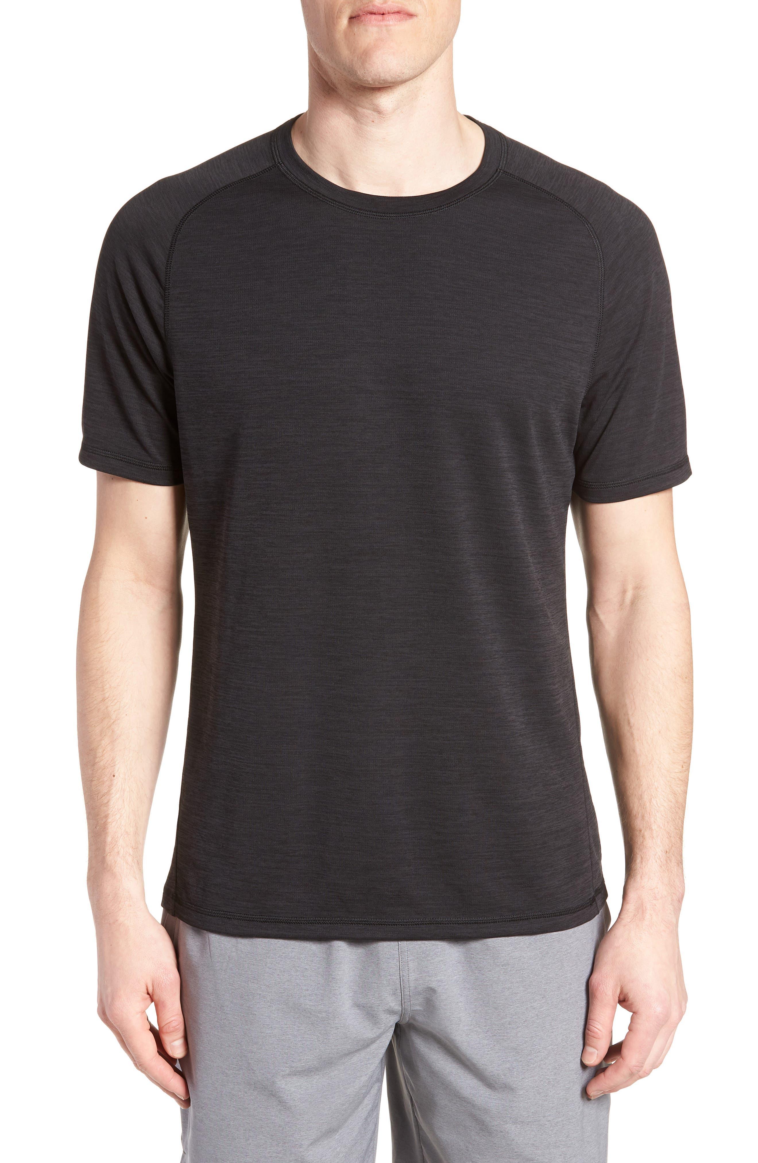ZELLA, Kinoite Raglan Crewneck T-Shirt, Main thumbnail 1, color, BLACK OXIDE MELANGE