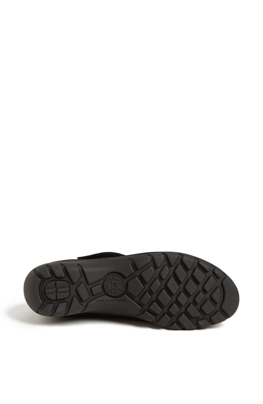 MEPHISTO, 'Luce' Sneaker, Alternate thumbnail 4, color, BLACK BUCKSOFT