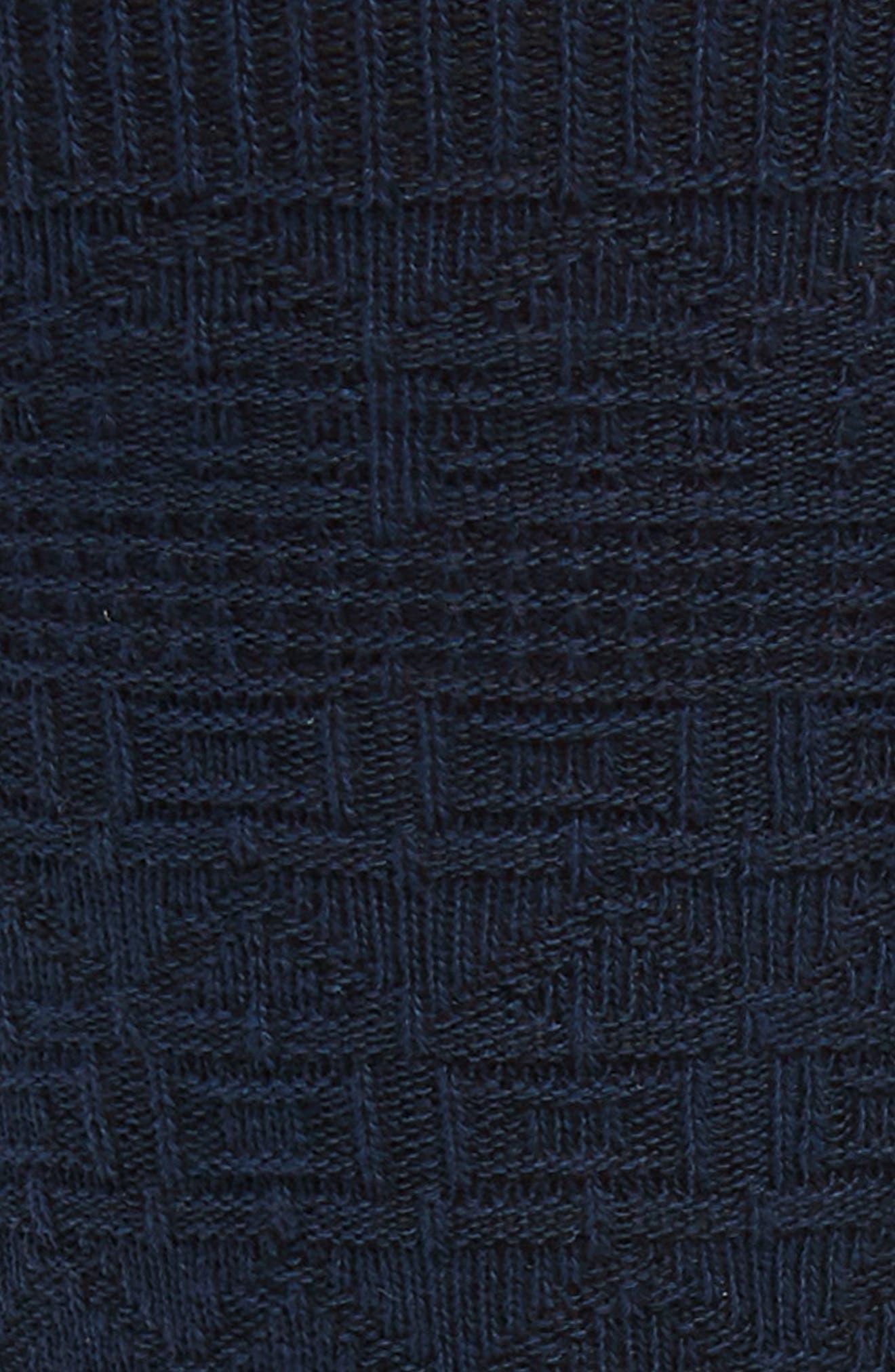TED BAKER LONDON, Textured Socks, Alternate thumbnail 2, color, NAVY