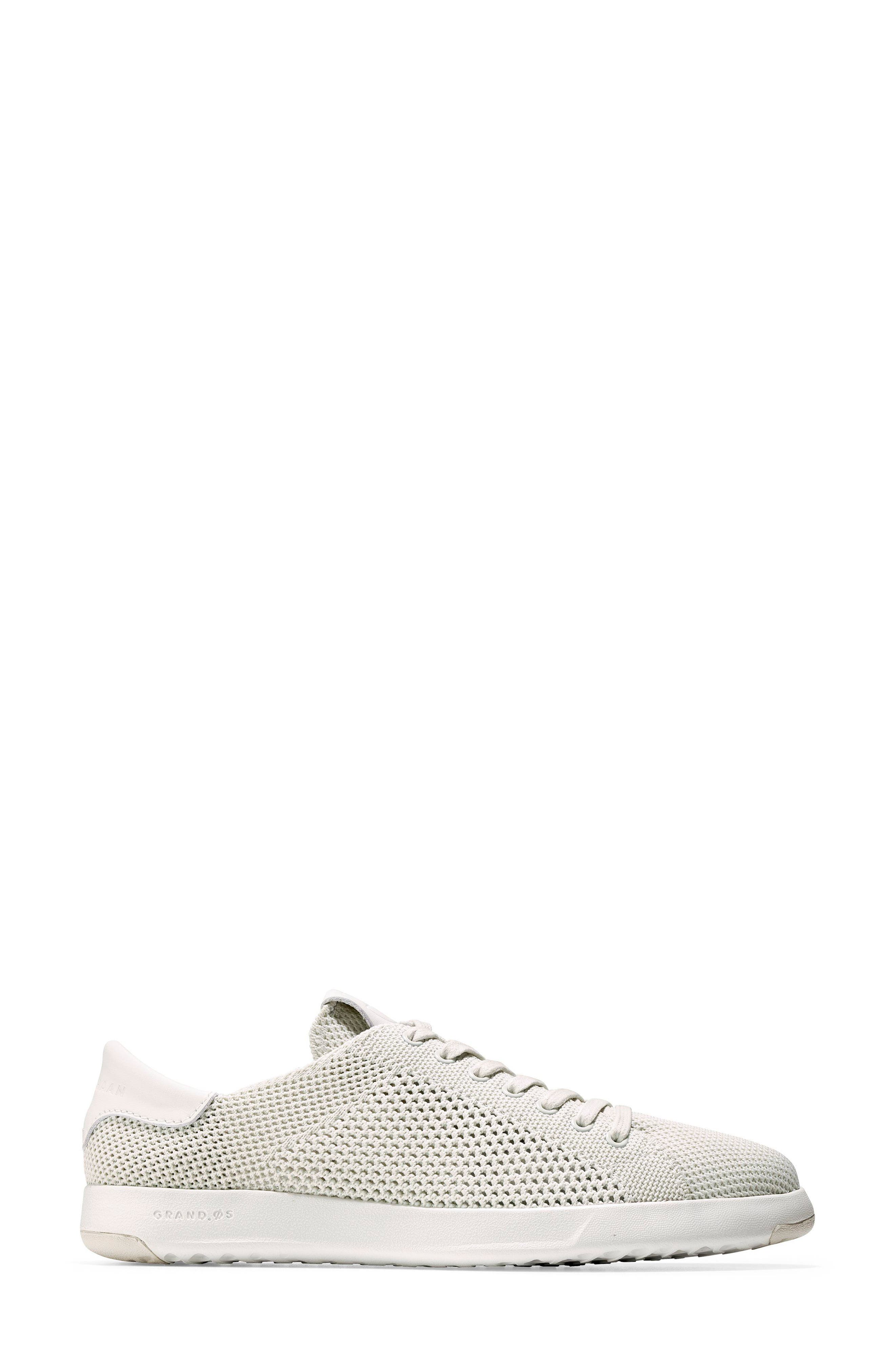 COLE HAAN, GrandPro Stitchlite Sneaker, Alternate thumbnail 3, color, CHALK FABRIC