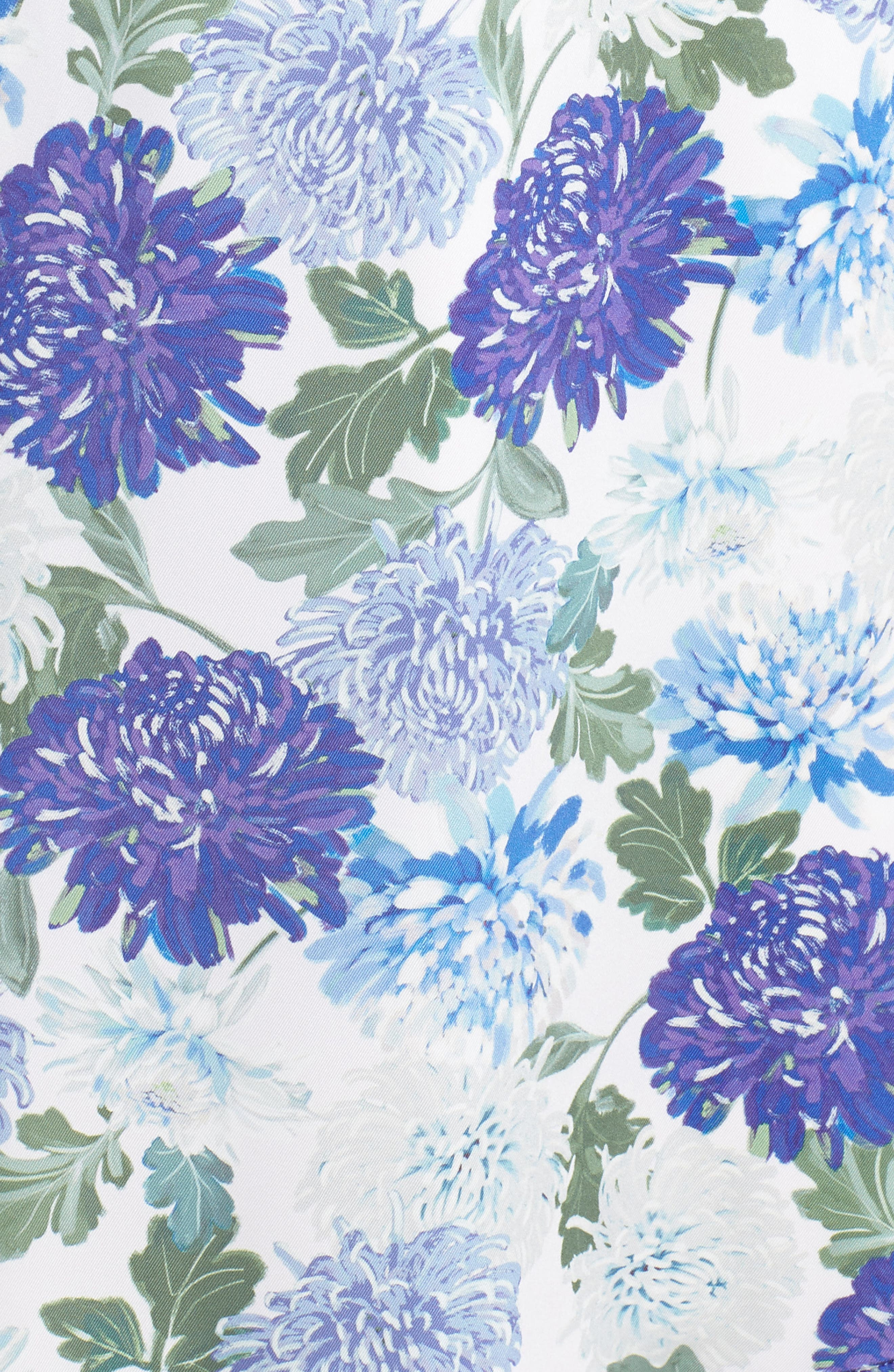 SAM EDELMAN, Vintage Floral Midi Dress, Alternate thumbnail 6, color, PURPLE MULTI