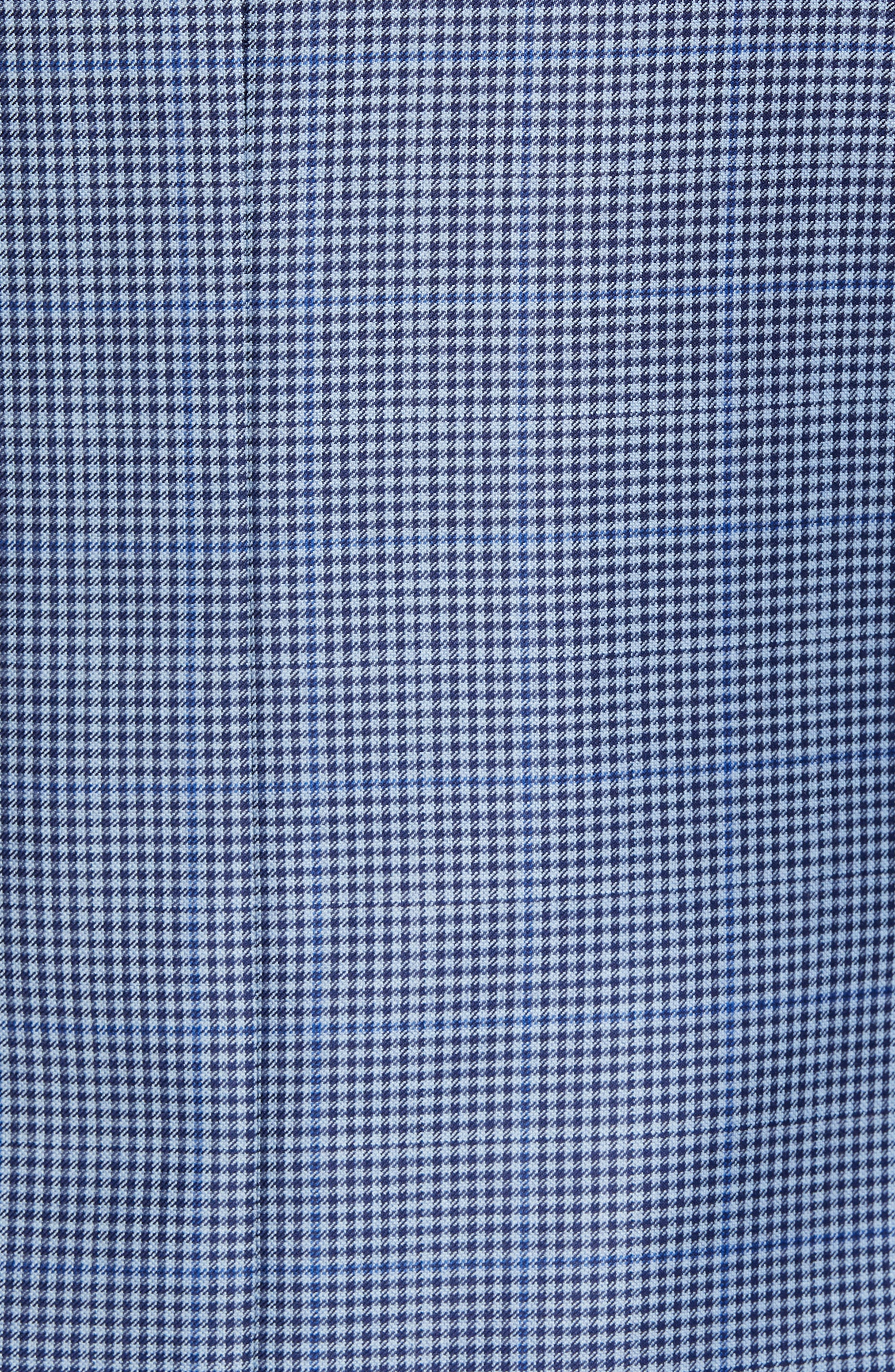 PETER MILLAR, Classic Fit Houndstooth Sport Coat, Alternate thumbnail 6, color, LIGHT BLUE