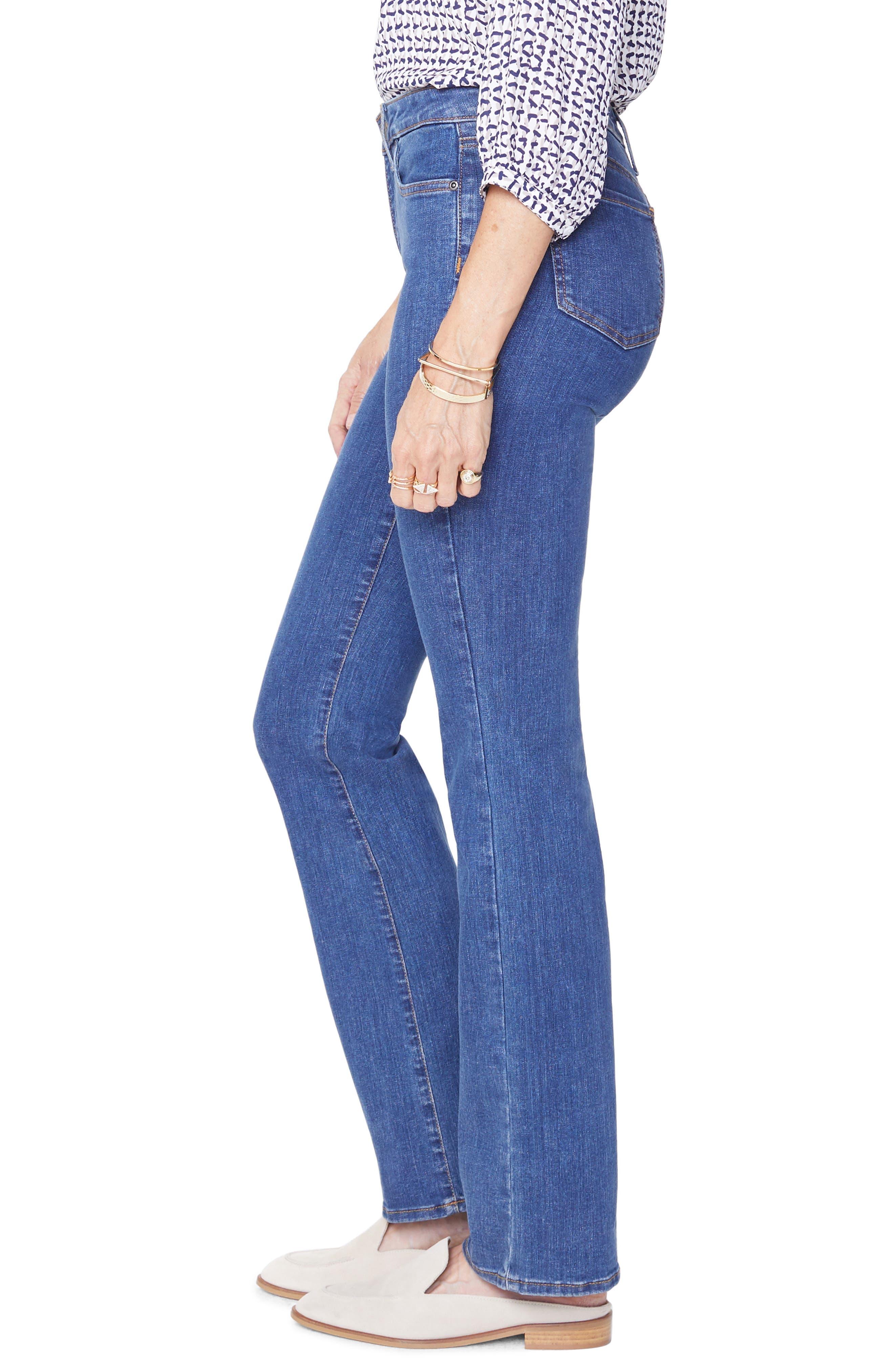 NYDJ, Barbara Stretch Bootcut Jeans, Alternate thumbnail 3, color, BATIK BLUE