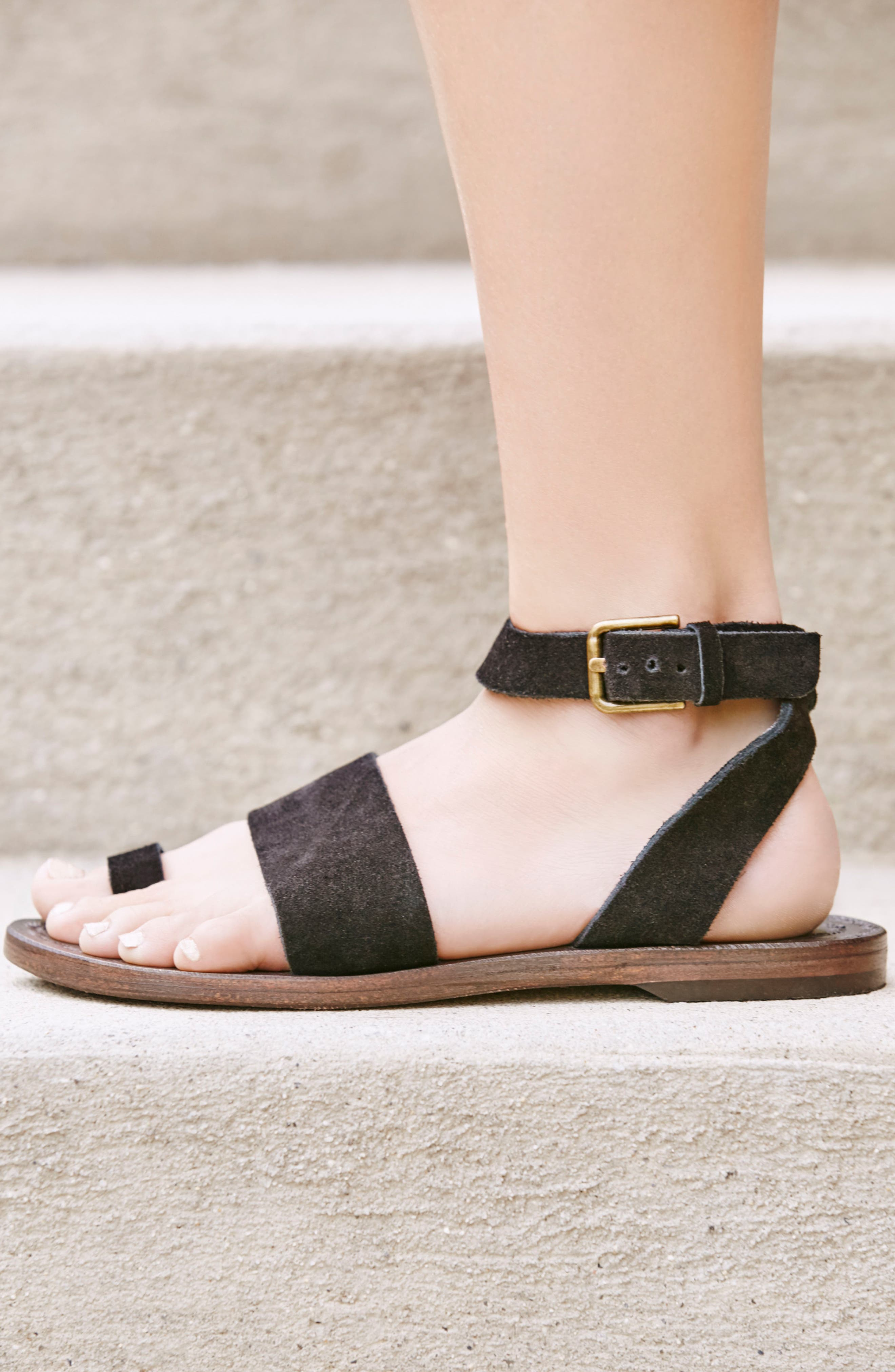 FREE PEOPLE, Torrence Ankle Wrap Sandal, Alternate thumbnail 7, color, OXFORD/ SANG