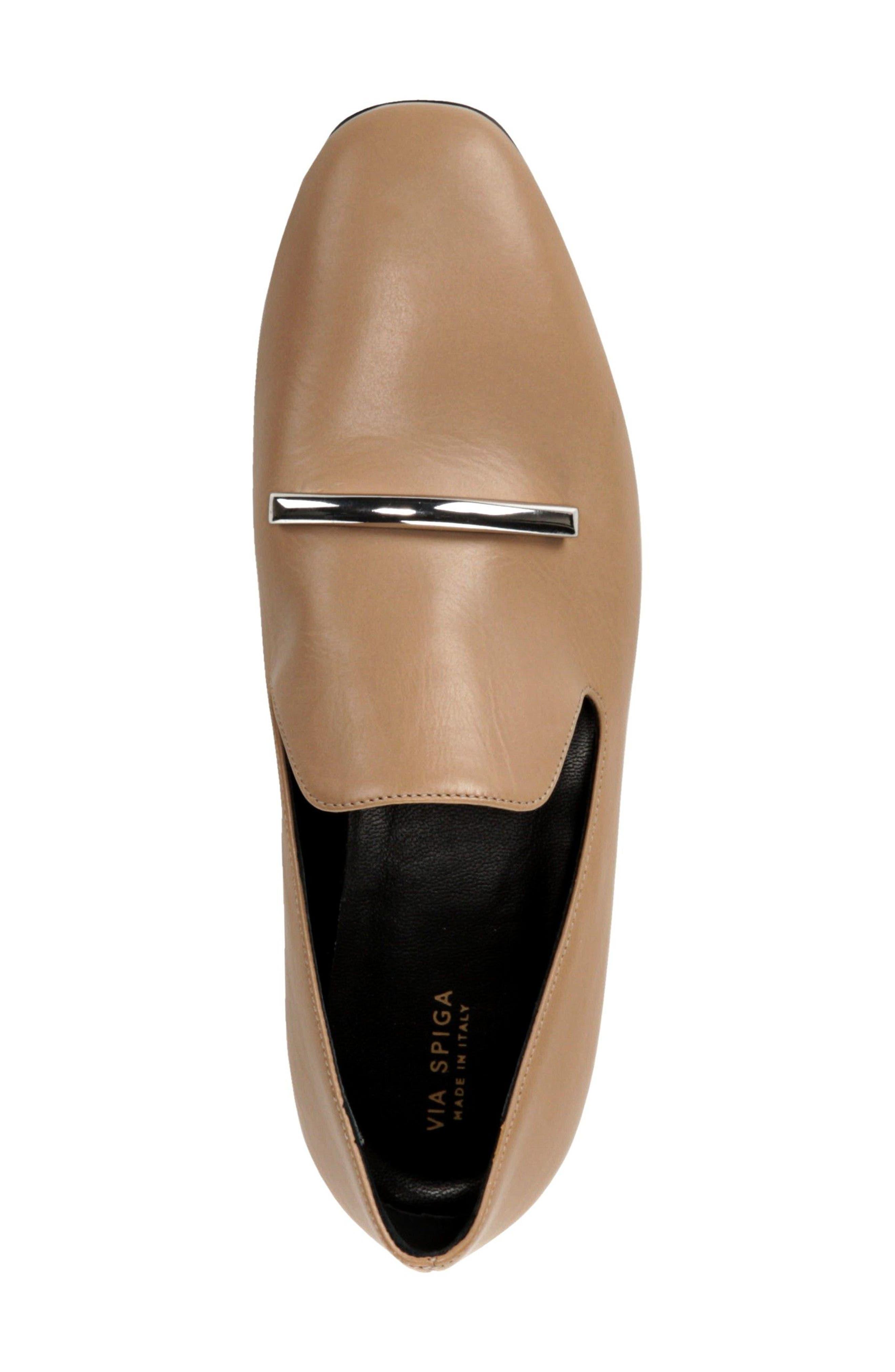 VIA SPIGA, Tallis Flat Loafer, Alternate thumbnail 5, color, 250