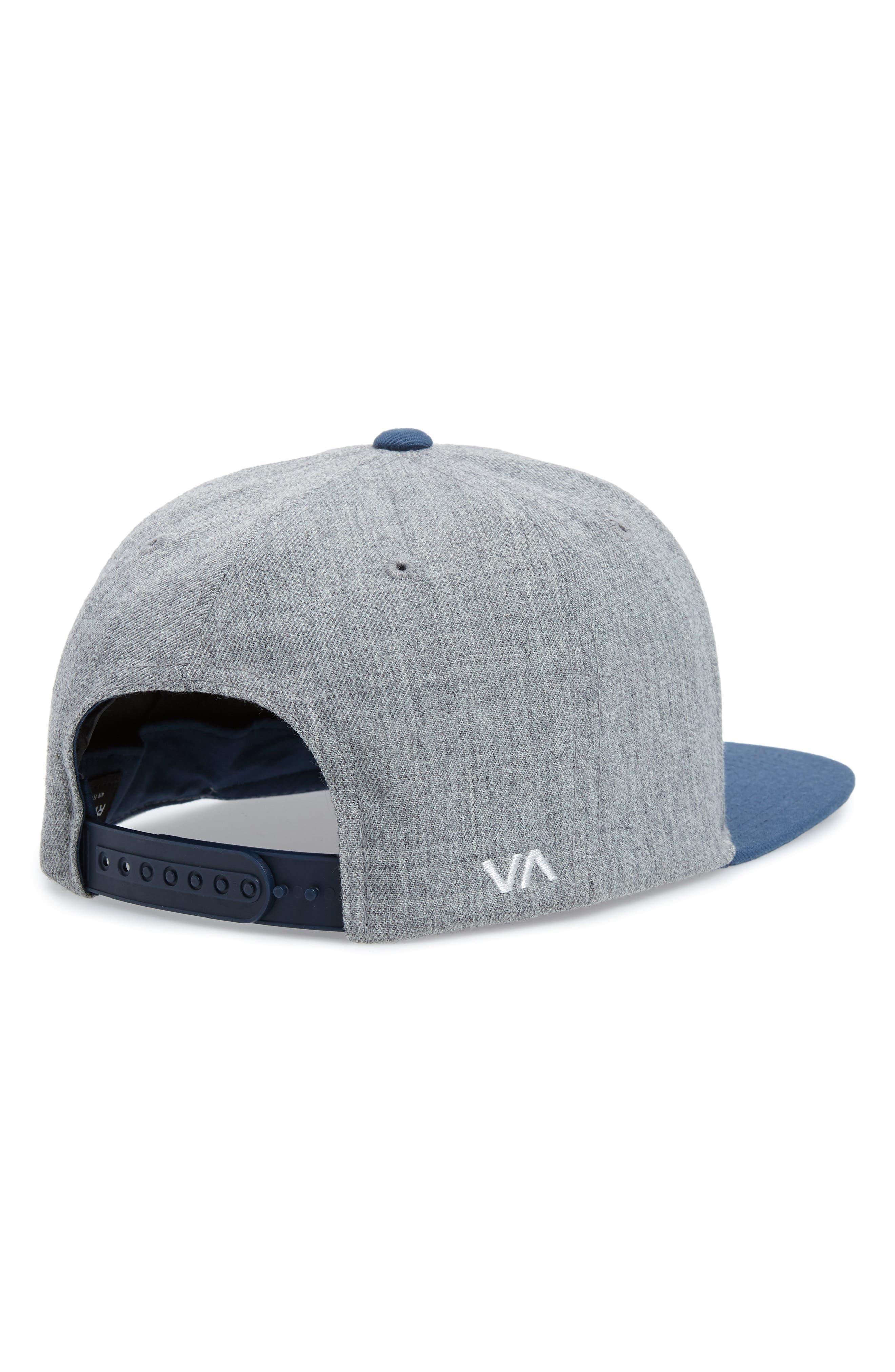 RVCA, Twill Snapback Baseball Cap, Alternate thumbnail 2, color, GREY BLUE