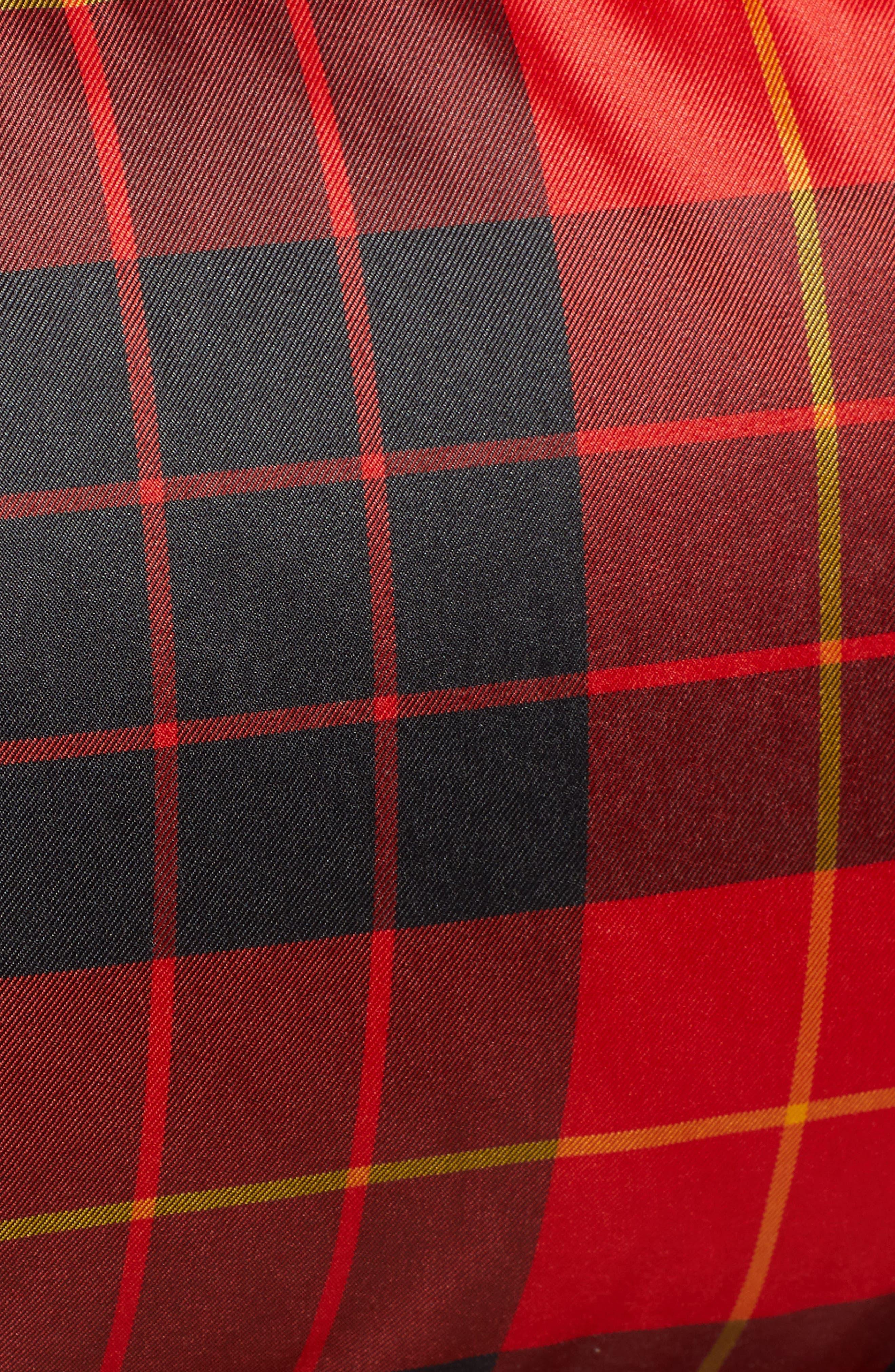 MACKAGE, Plaid Down Hooded Jacket, Alternate thumbnail 7, color, 648