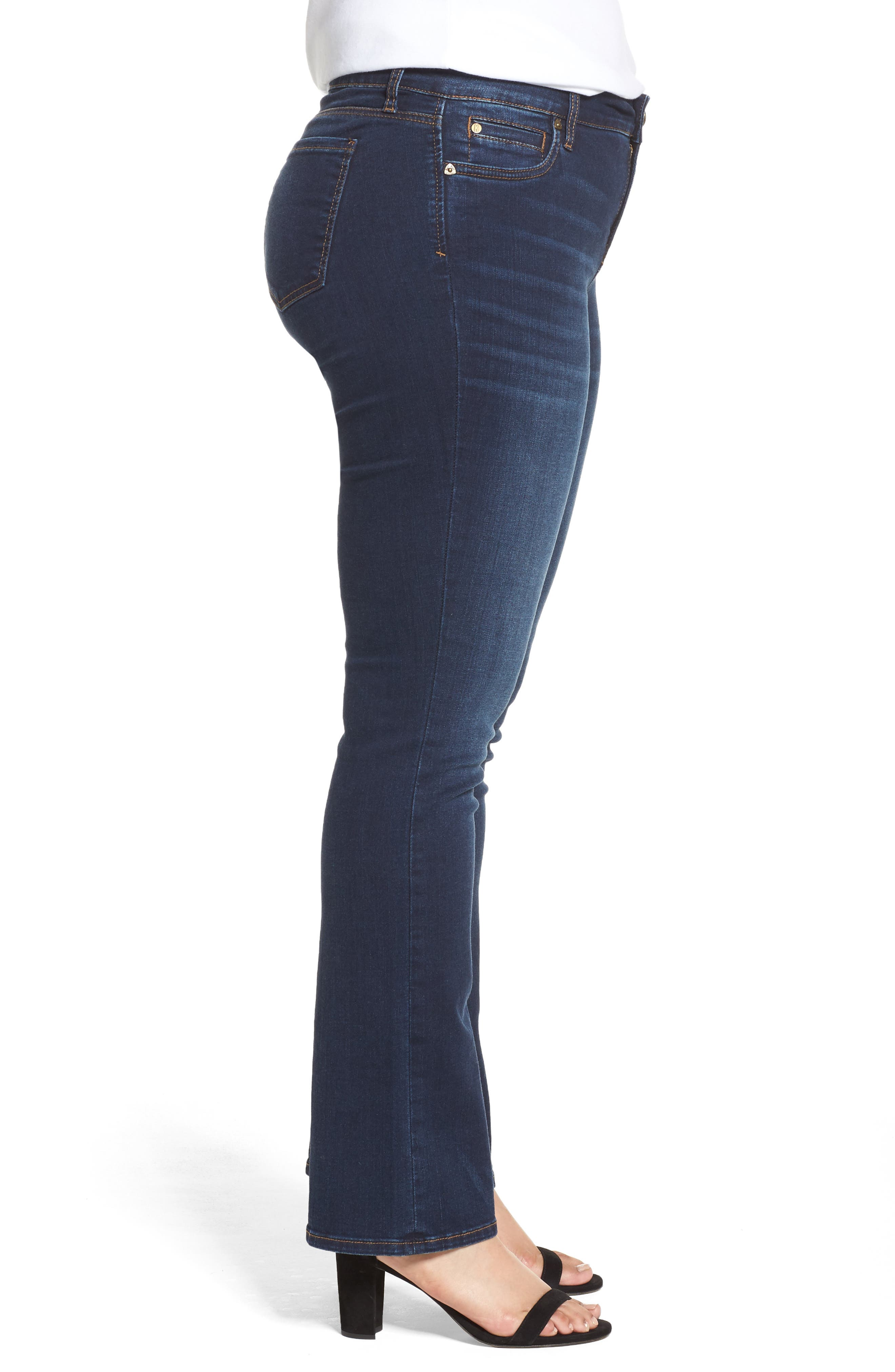 KUT FROM THE KLOTH, Natalie High Waist Bootcut Jeans, Alternate thumbnail 3, color, CLOSENESS W/ EURO BASE WASH