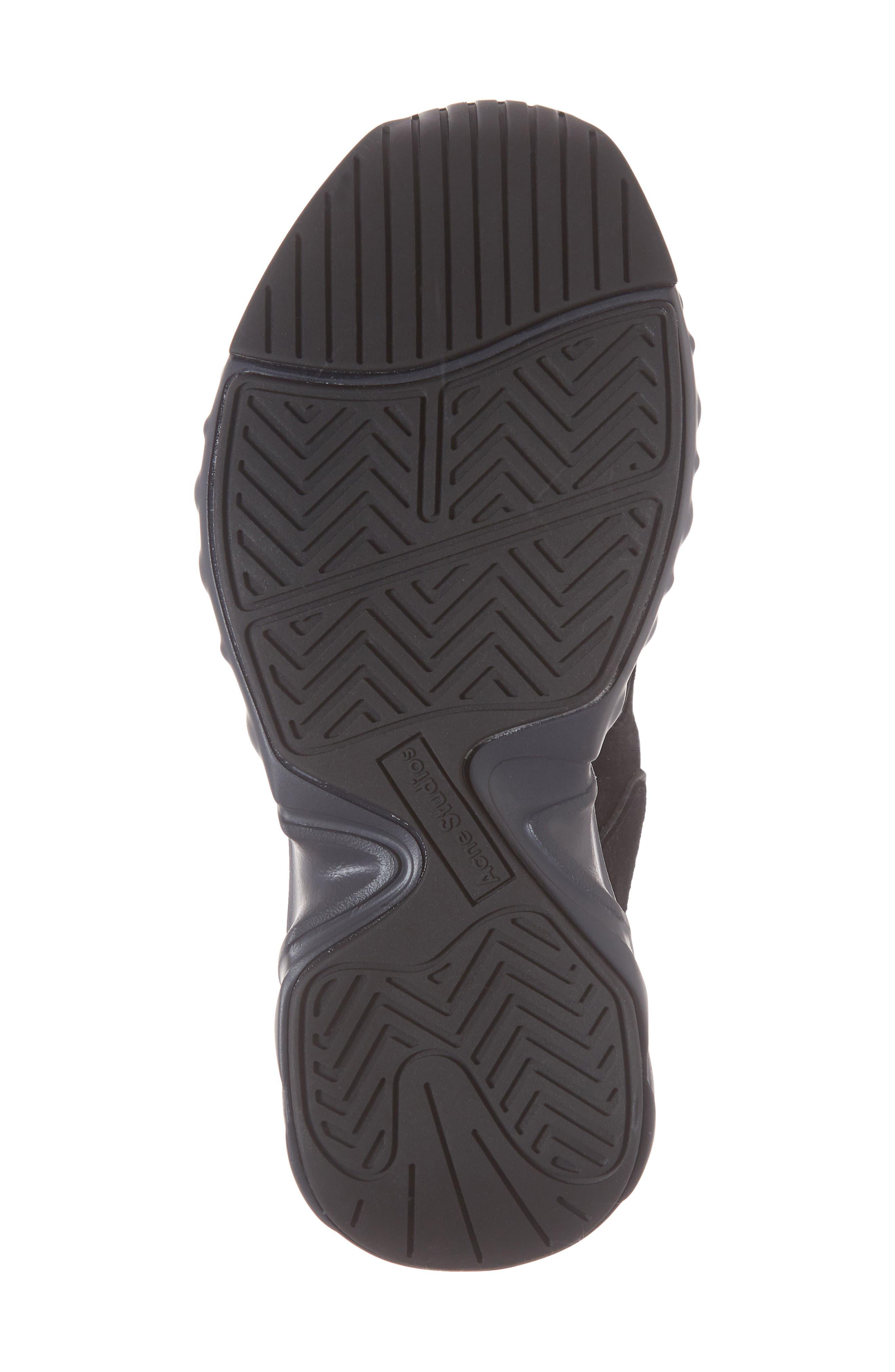 ACNE STUDIOS, Manhattan Sneaker, Alternate thumbnail 6, color, MULTI BLACK
