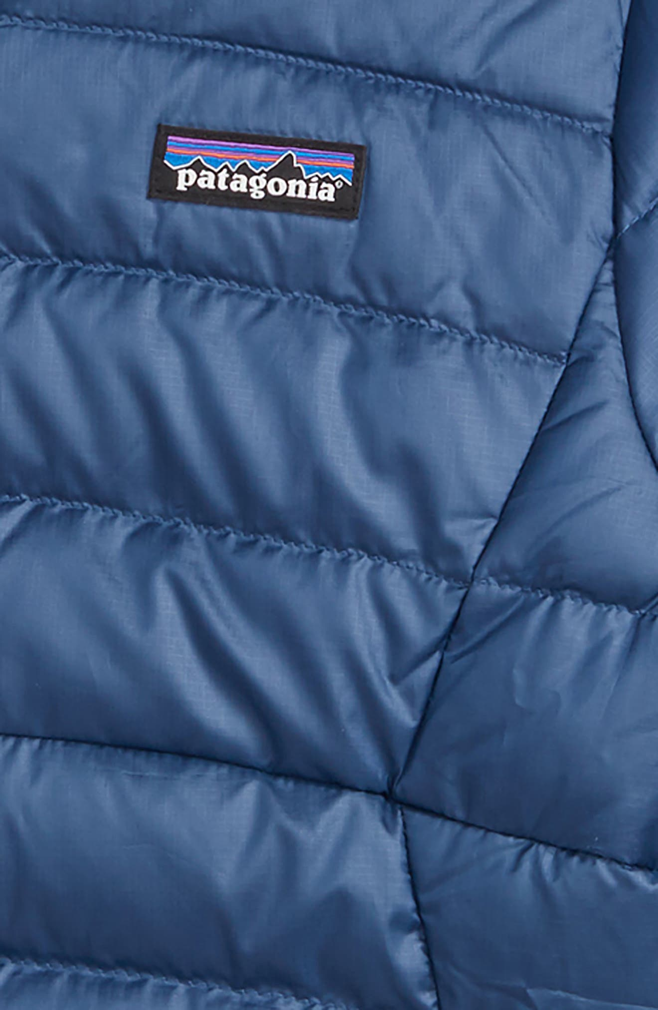 PATAGONIA, Reversible Down Sweater Hoodie, Alternate thumbnail 3, color, 400