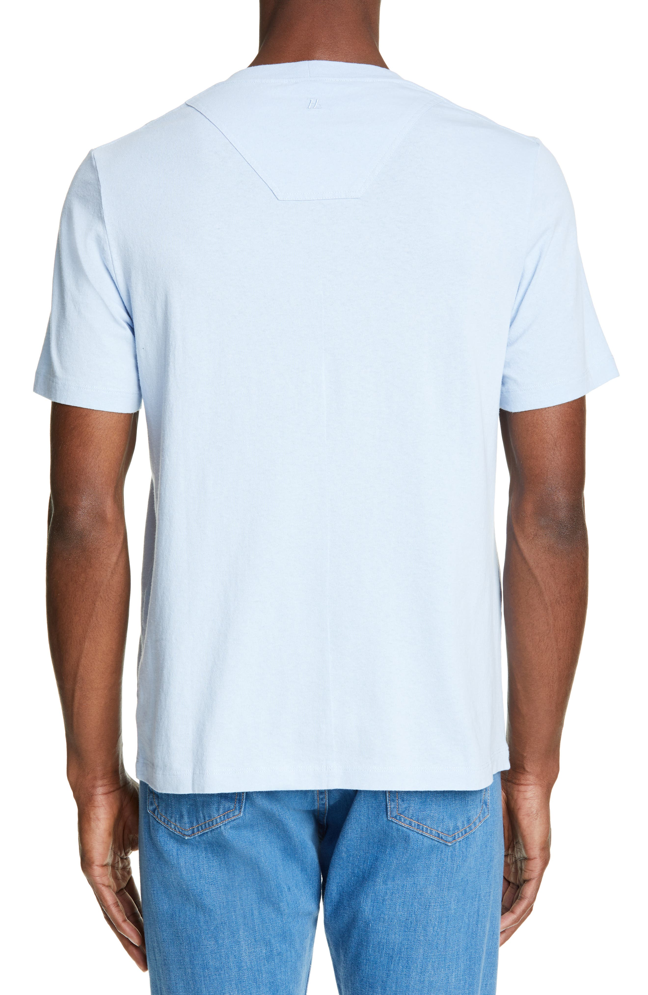 HELMUT LANG, Aviator T-Shirt, Alternate thumbnail 2, color, SKY