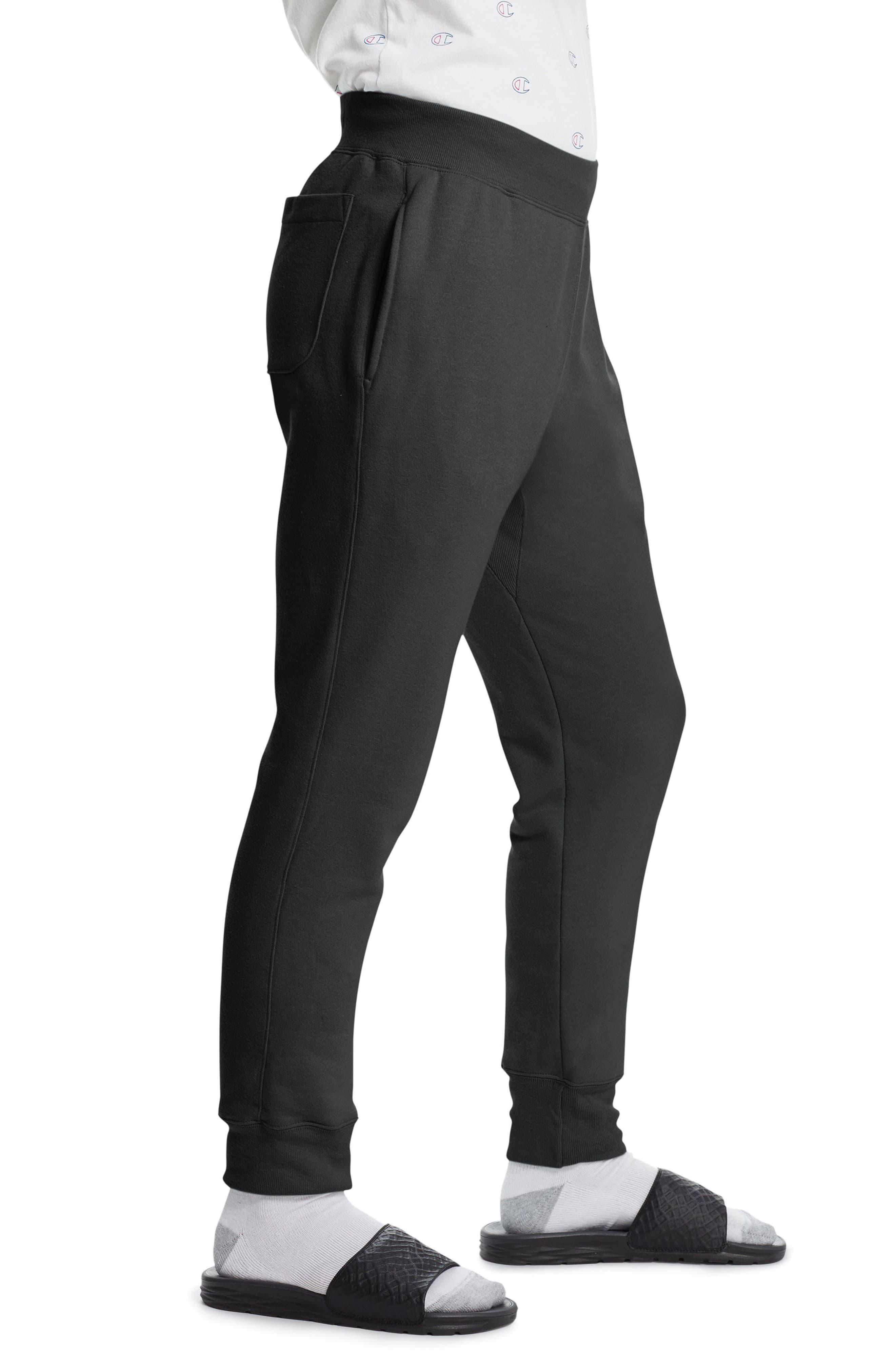 CHAMPION, Reverse Weave<sup>®</sup> Jogger Pants, Alternate thumbnail 4, color, BLACK