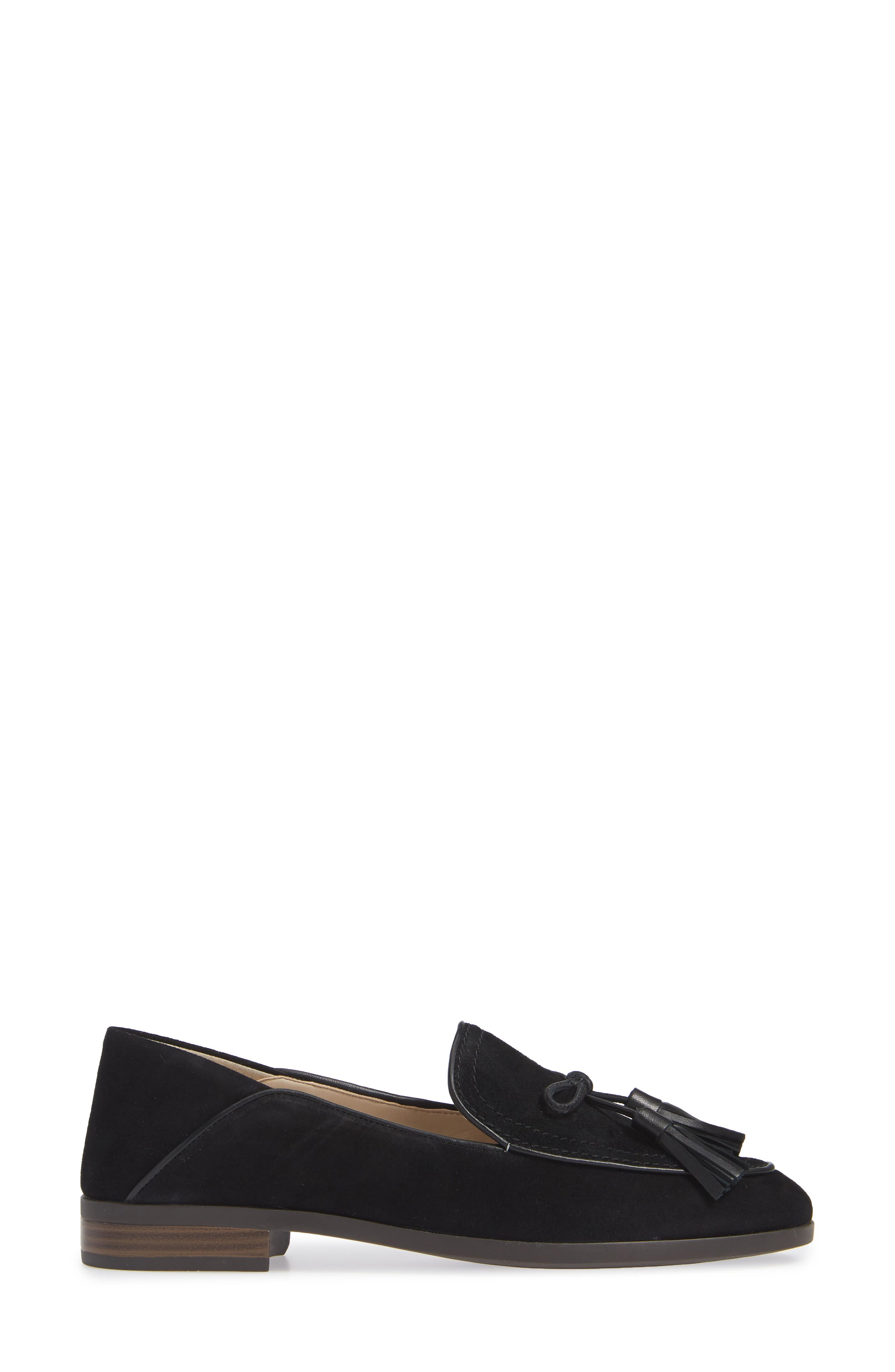 COLE HAAN, Gabrielle Loafer, Alternate thumbnail 3, color, BLACK SUEDE