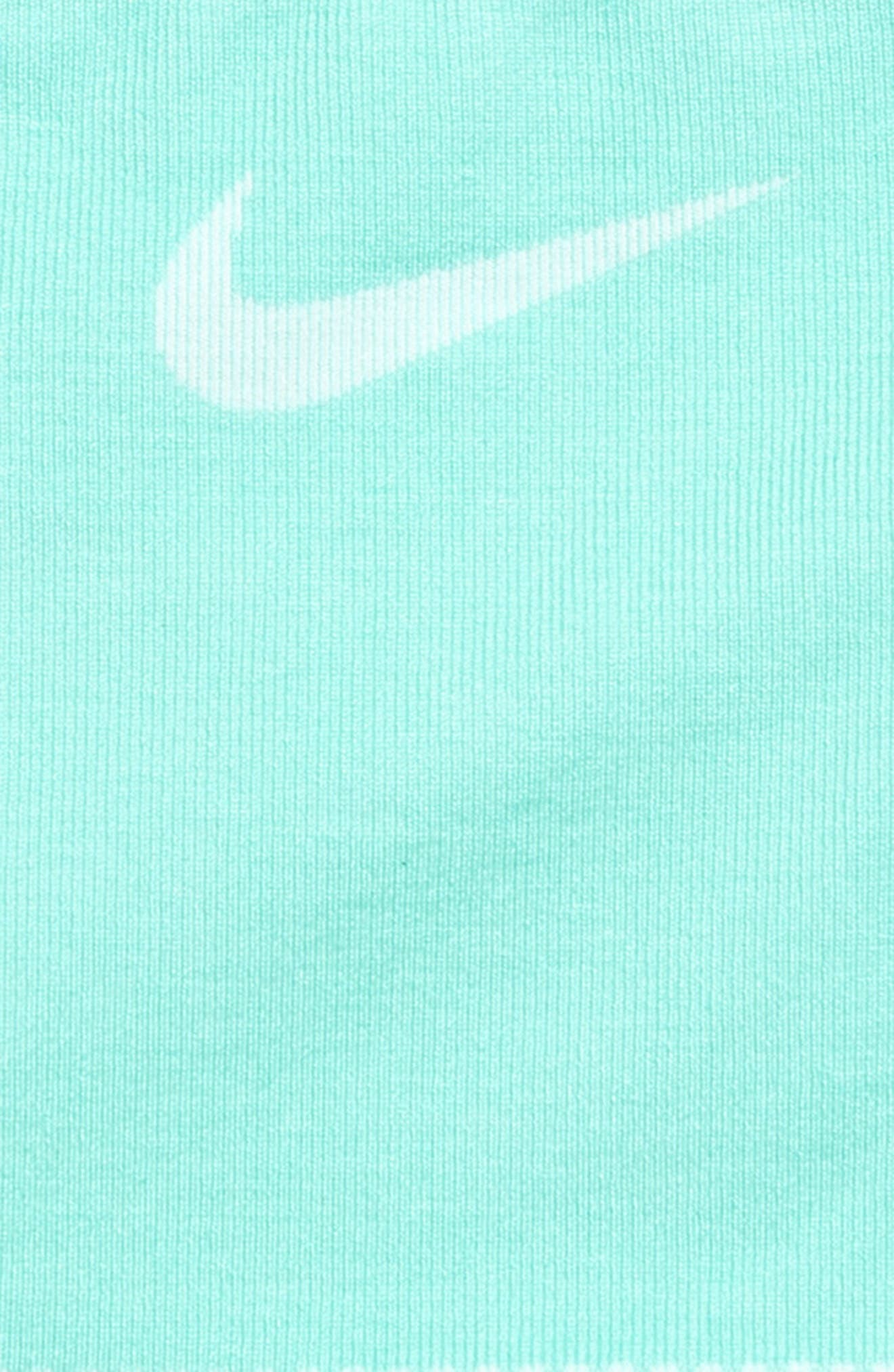 NIKE, Seamless Sports Bra, Alternate thumbnail 2, color, TROPICAL/ TEAL TINT