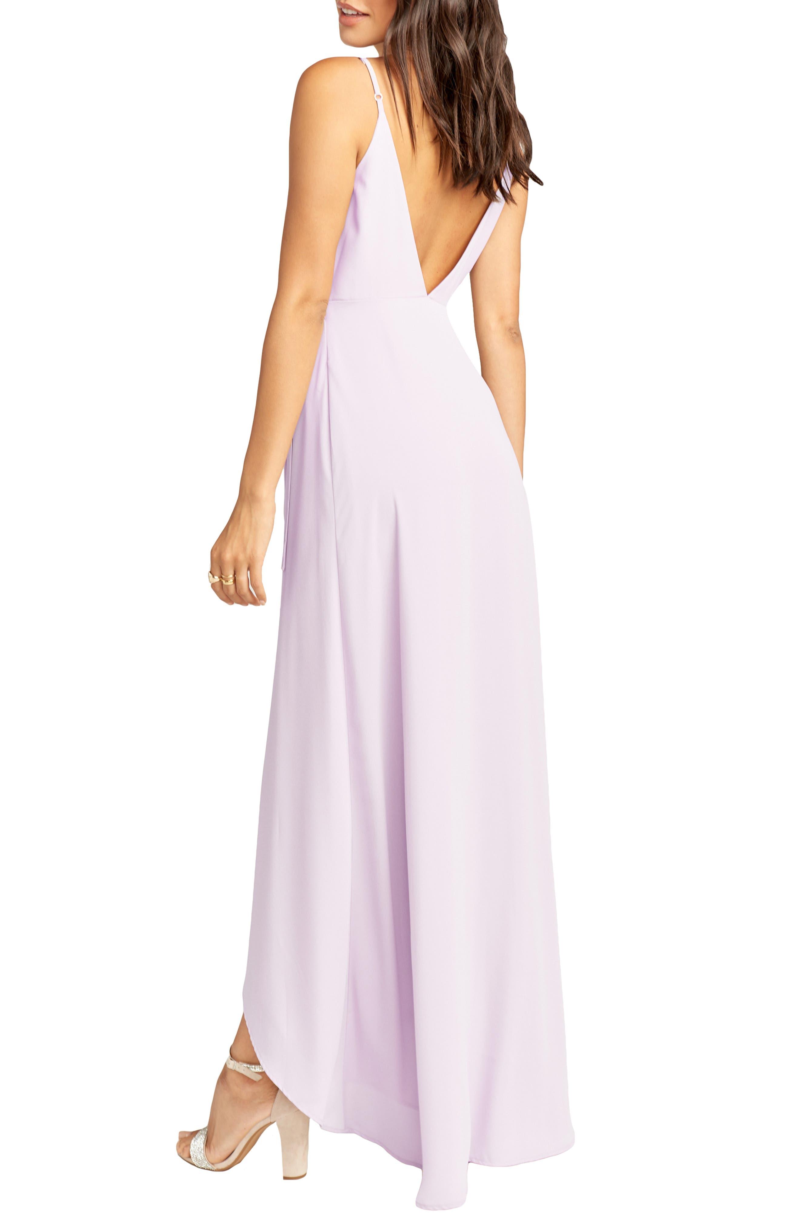 SHOW ME YOUR MUMU, Mariah Wrap Maxi Dress, Alternate thumbnail 2, color, VIOLET CHIFFON