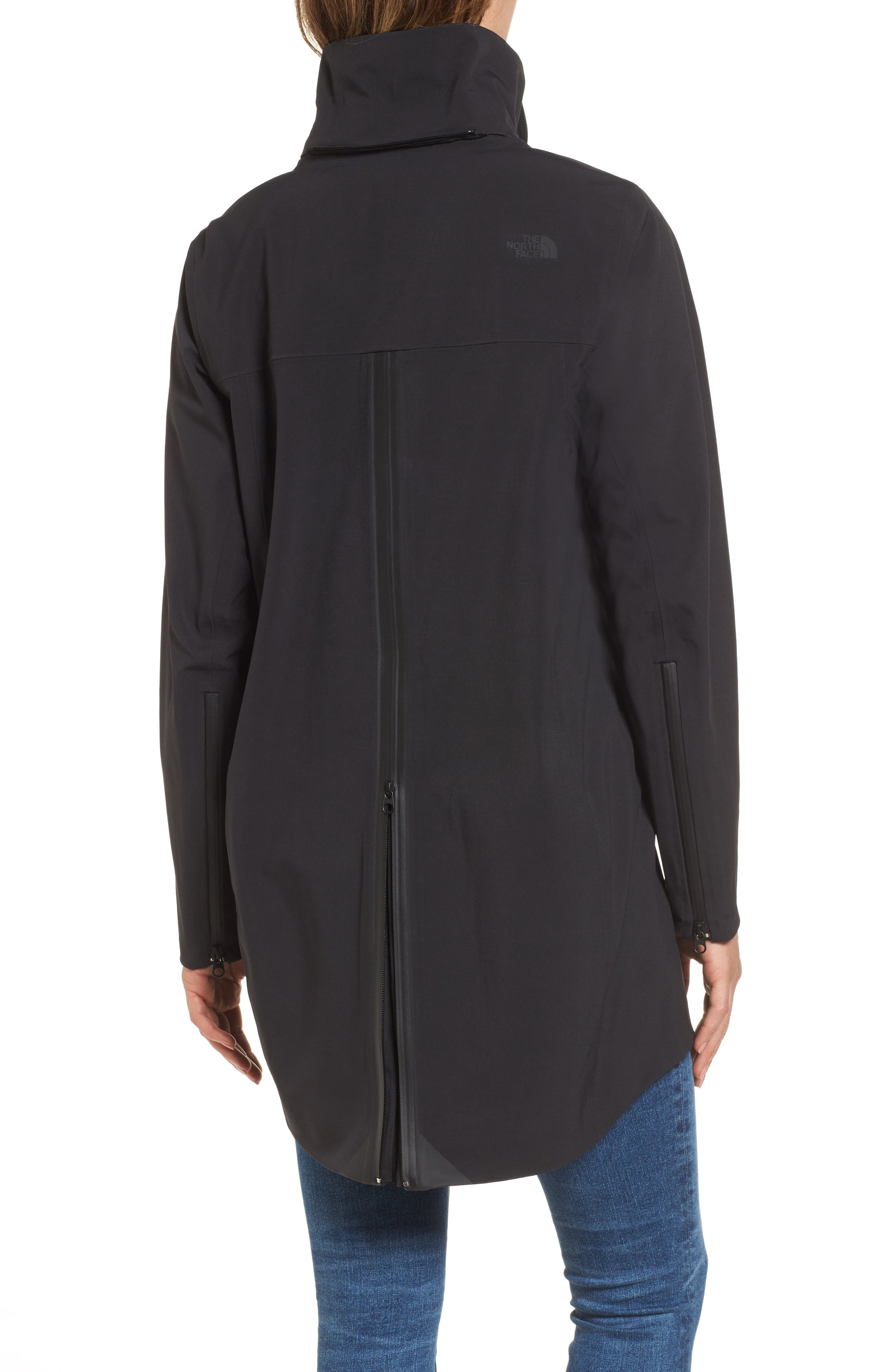THE NORTH FACE, Apex Flex Gore-Tex<sup>®</sup> Trench Coat, Alternate thumbnail 5, color, BLACK
