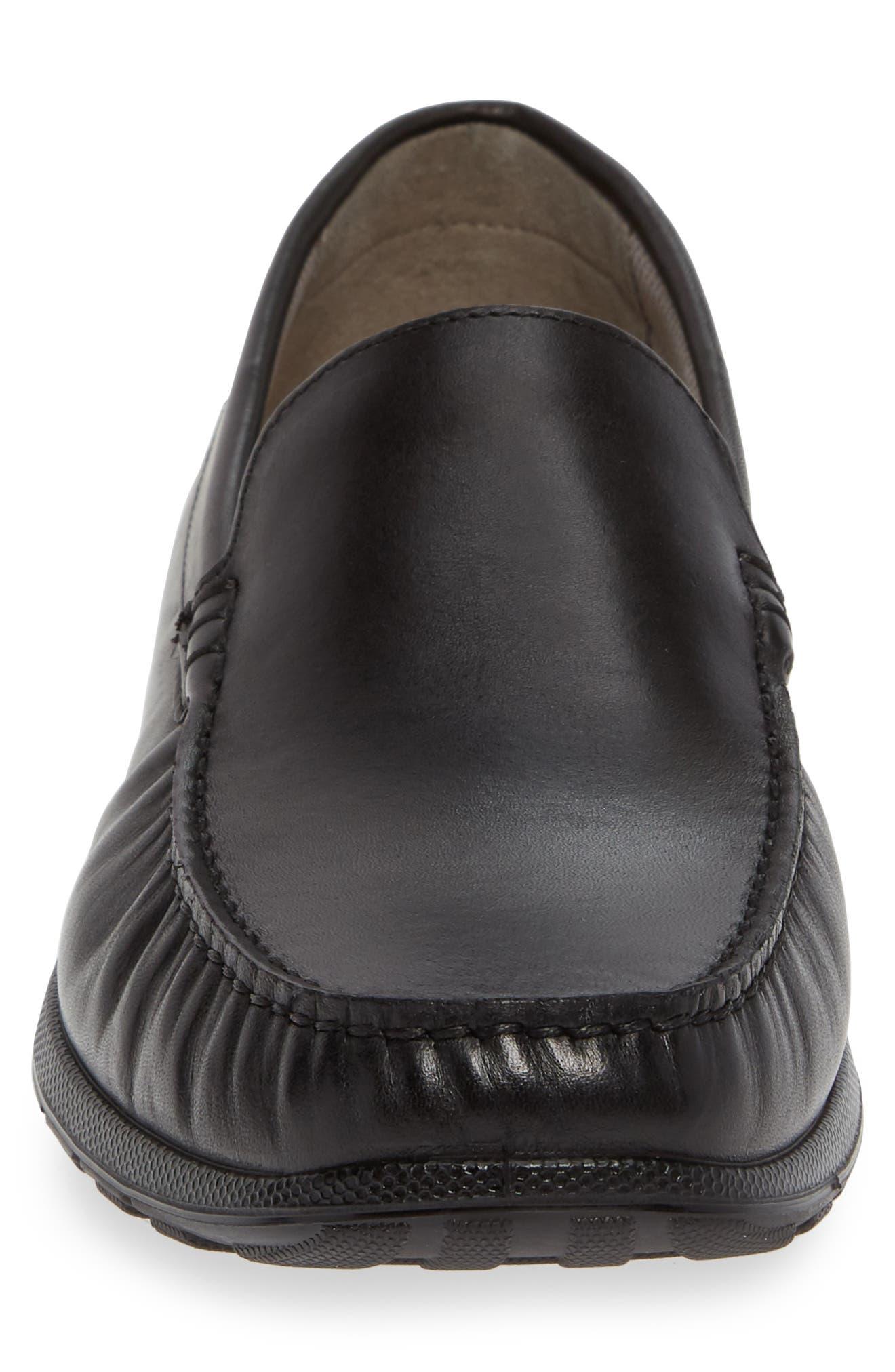 ECCO, Reciprico Driving Shoe, Alternate thumbnail 4, color, BLACK LEATHER