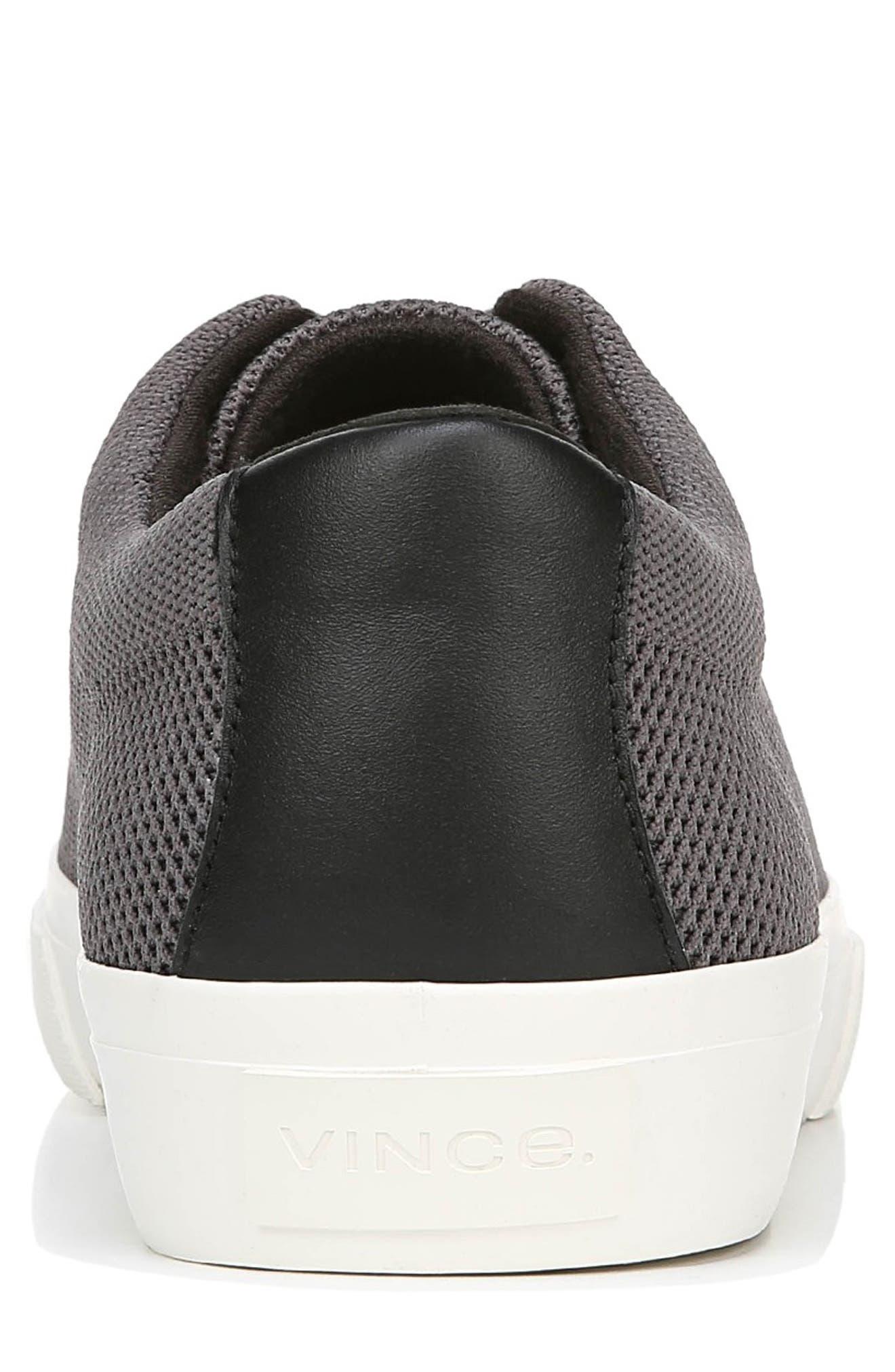 VINCE, Farrell Sneaker, Alternate thumbnail 7, color, GRAPHITE/ BLACK