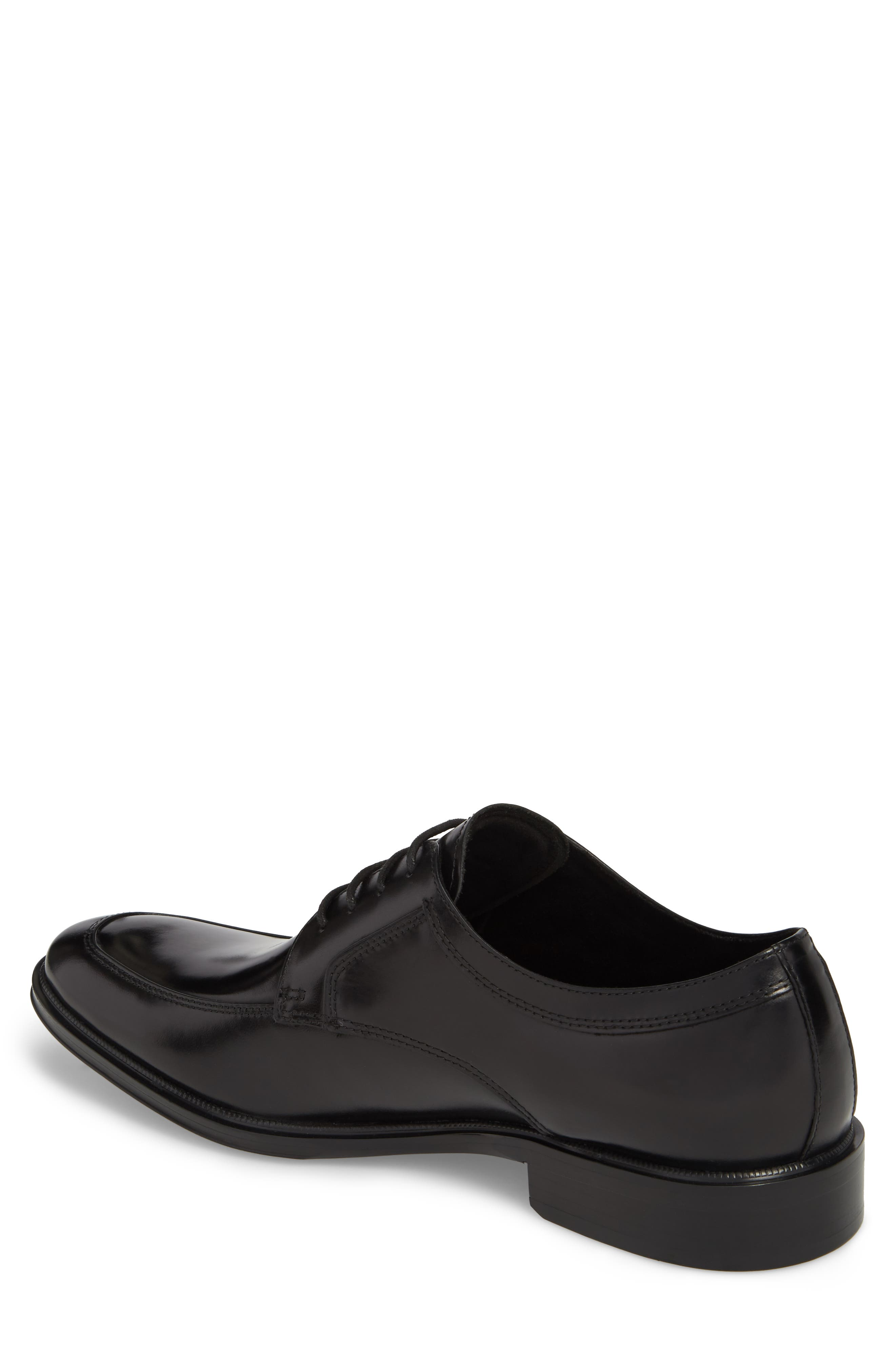 KENNETH COLE NEW YORK, Tully Apron Toe Derby, Alternate thumbnail 2, color, BLACK LEATHER