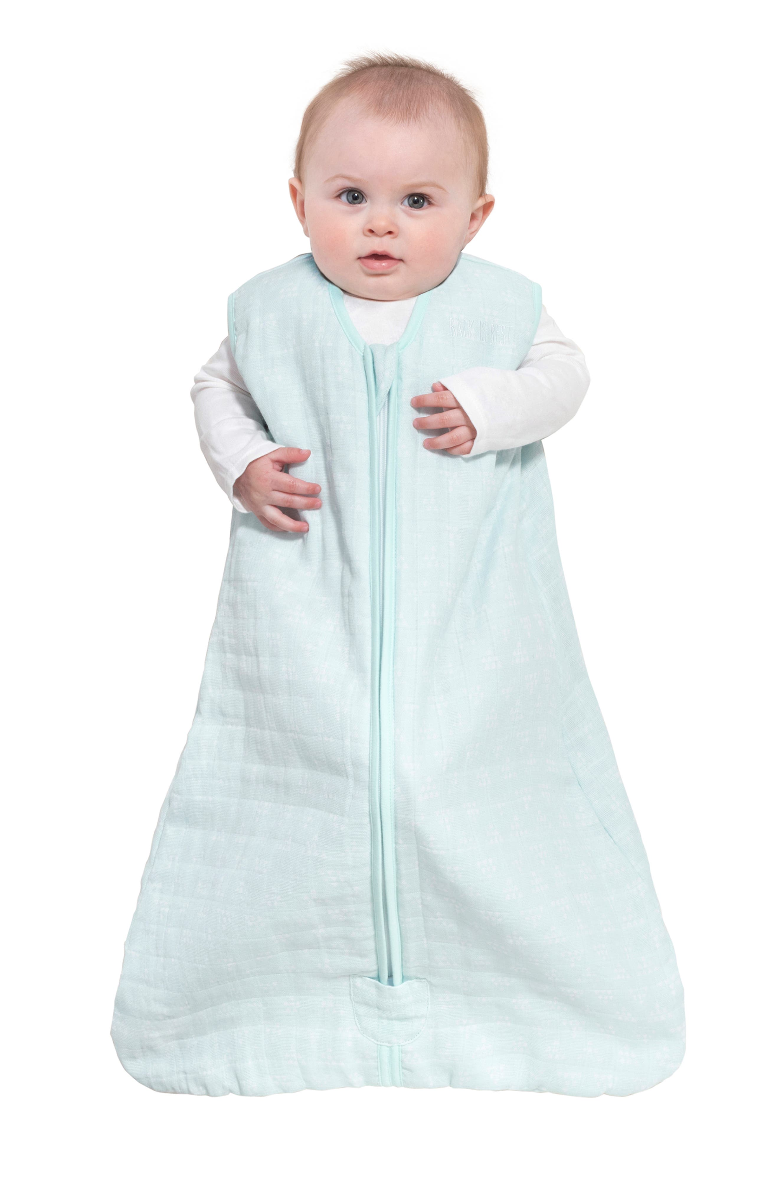 HALO<SUP>®</SUP>, Platinum Series SleepSack<sup>™</sup> Quilted Muslin Wearable Blanket, Alternate thumbnail 7, color, MINT PYRAMID