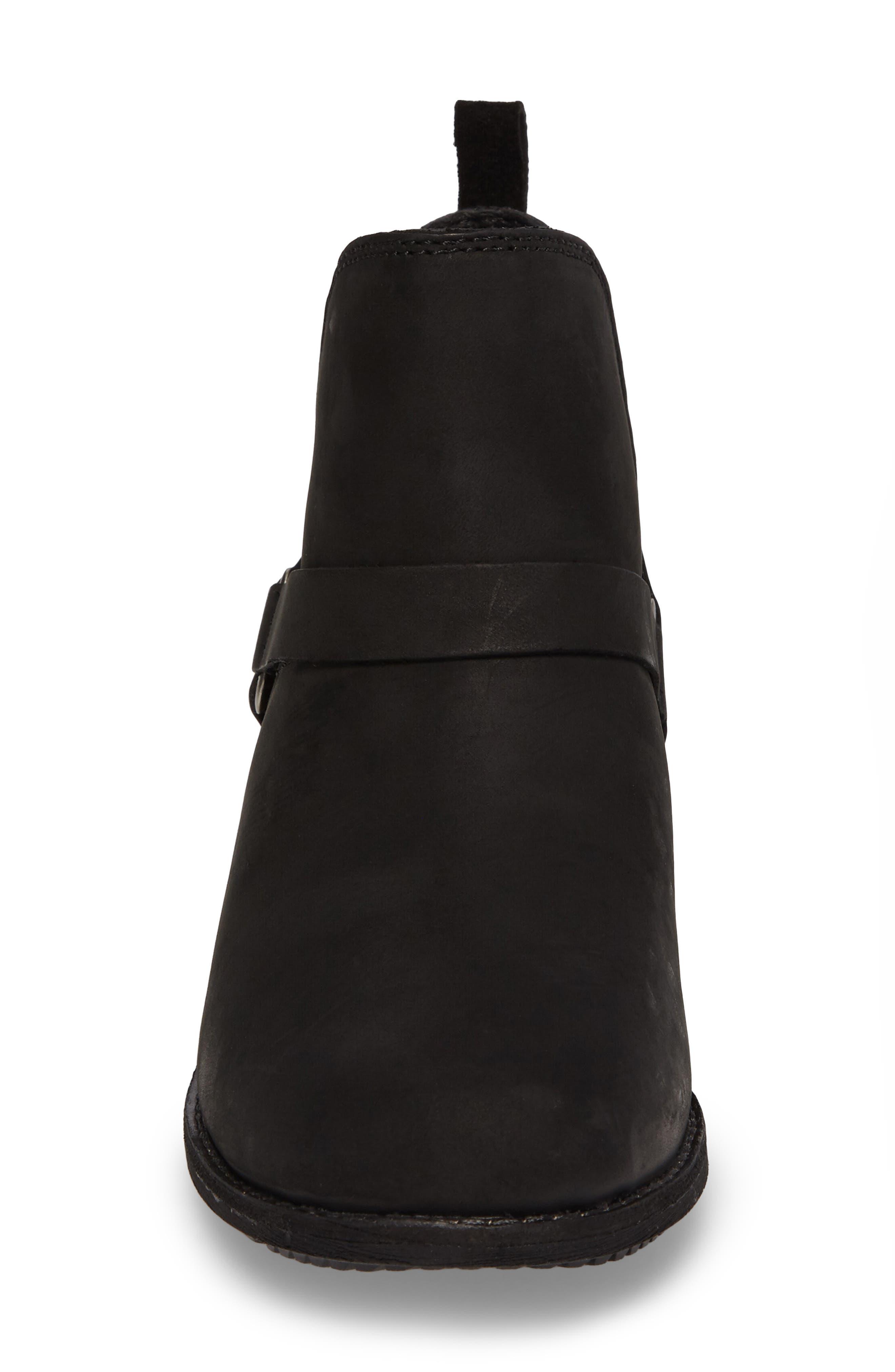 TEVA, De La Vina Dos Waterproof Chelsea Boot, Alternate thumbnail 4, color, BLACK LEATHER