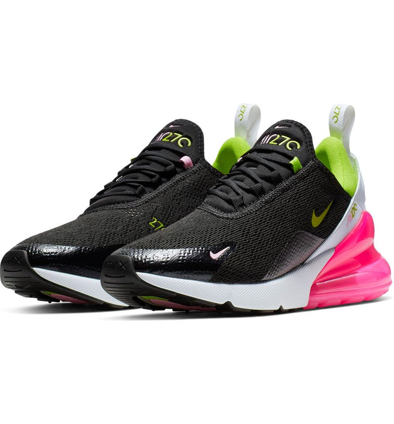 outlet store 691f6 c4613 NIKE Air Max 270 Sneaker, Main, color, BLACK  CYBER-PINK RISE