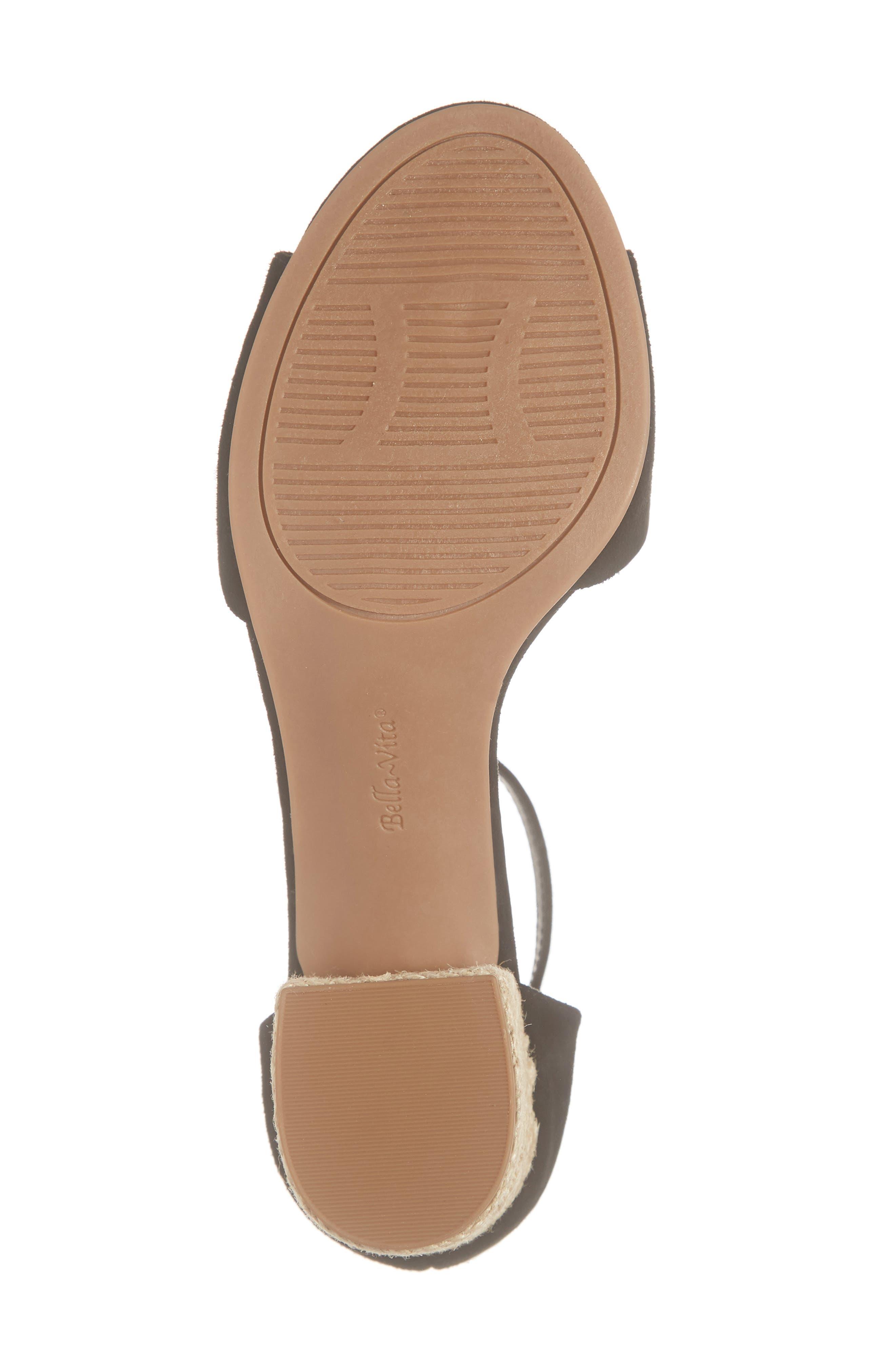 BELLA VITA, Fable Sandal, Alternate thumbnail 6, color, BLACK SUEDE