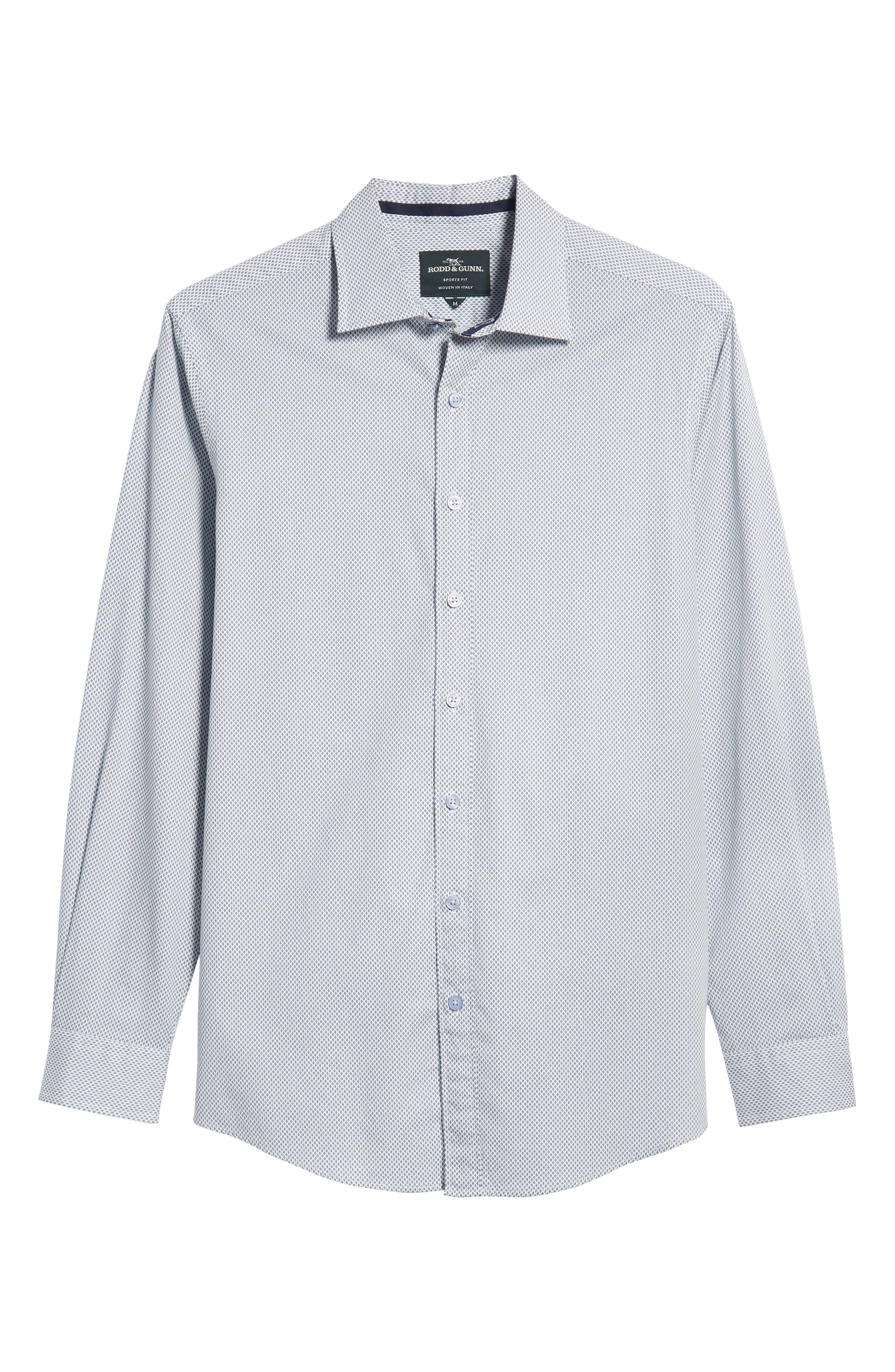 RODD & GUNN, Helston Way Regular Fit Sport Shirt, Alternate thumbnail 5, color, SNOW