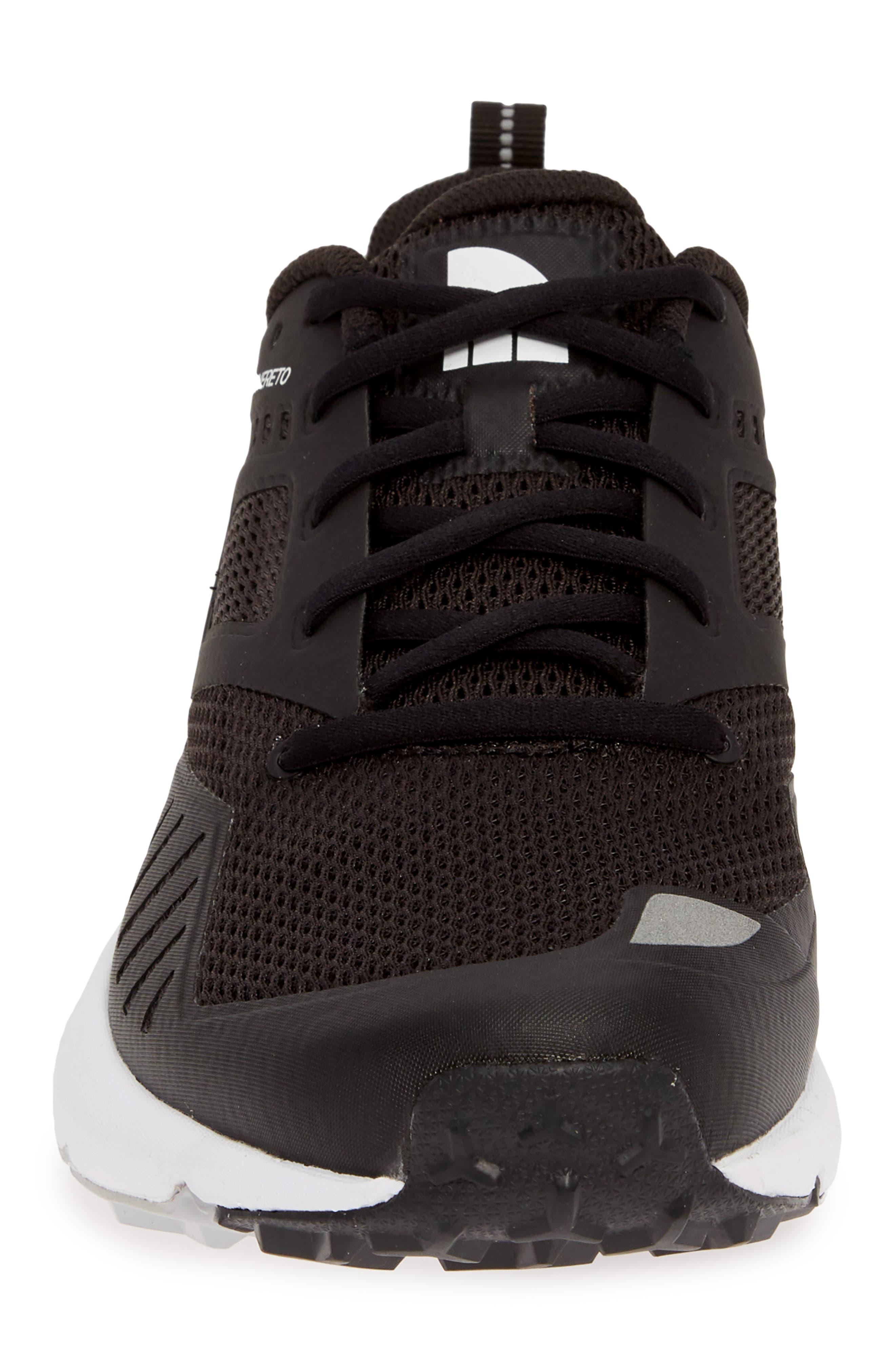 THE NORTH FACE, Rovereto Running Shoe, Alternate thumbnail 4, color, BLACK/ WHITE