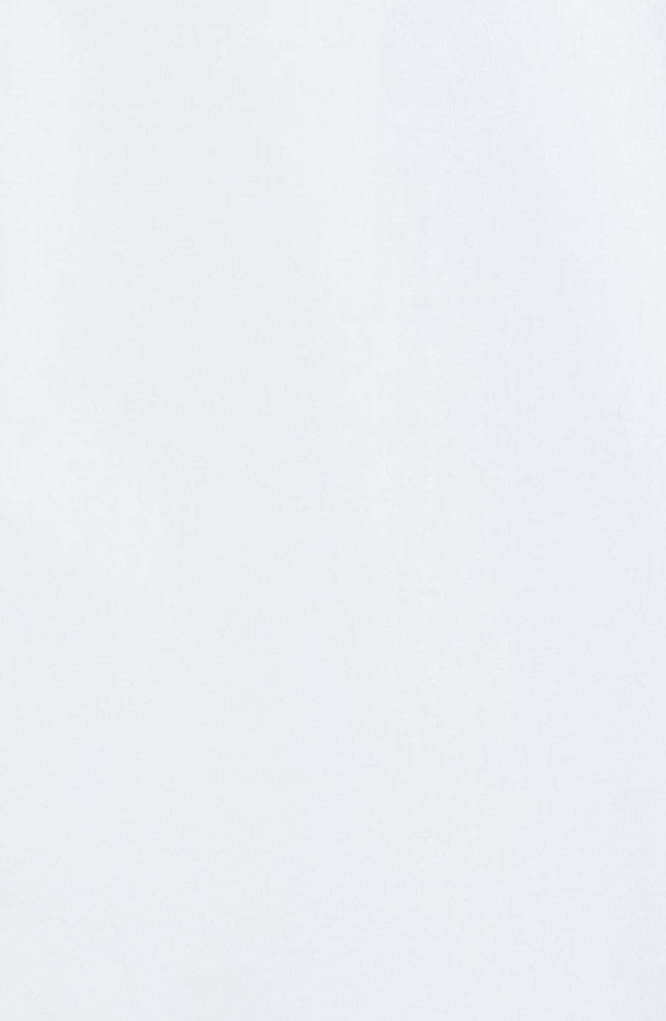 HELMUT LANG, Logo Print Dress Shirt, Alternate thumbnail 7, color, WHITE/SILVER