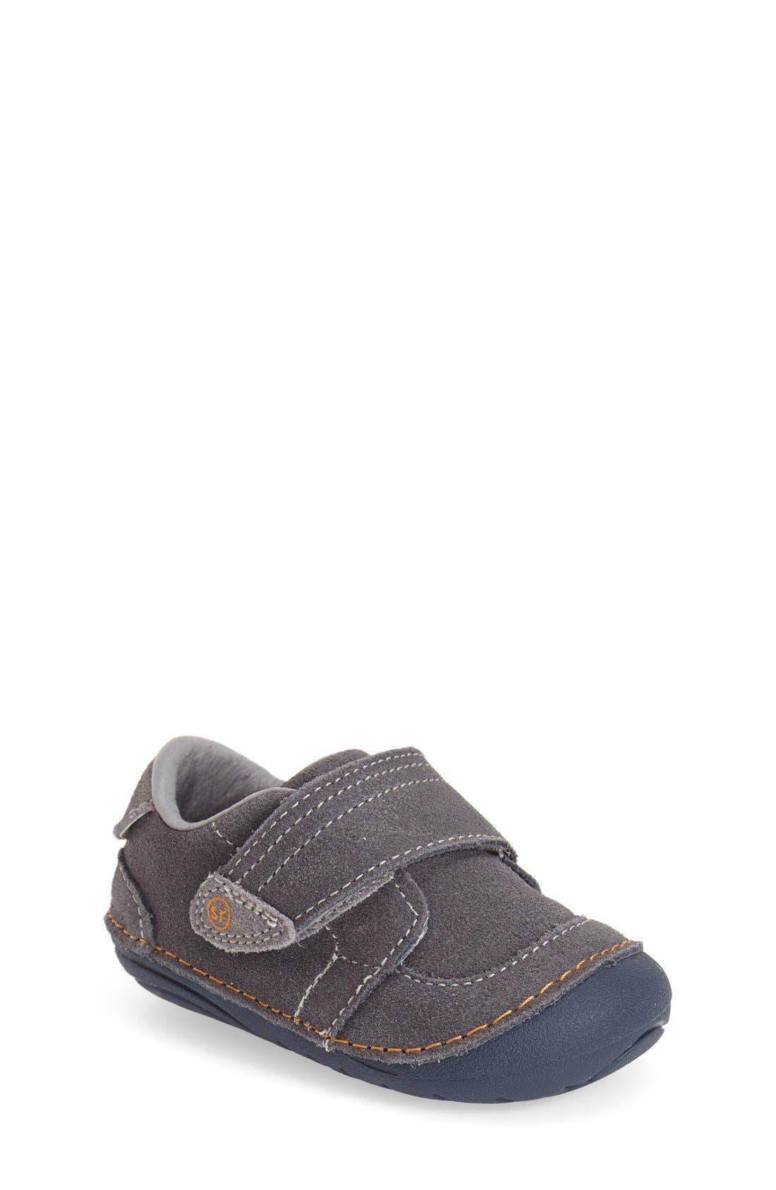 STRIDE RITE, Soft Motion Kellen Sneaker, Main thumbnail 1, color, GREY