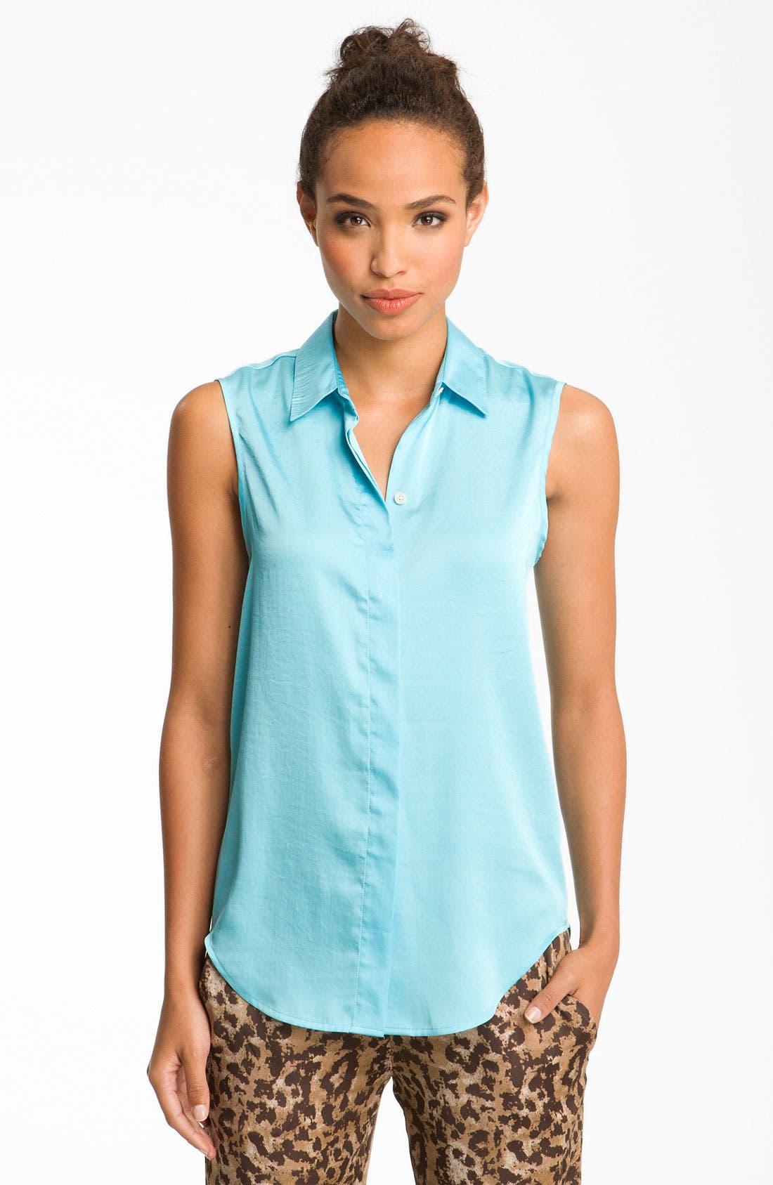 VINCE CAMUTO, Sleeveless Shirt, Main thumbnail 1, color, 440
