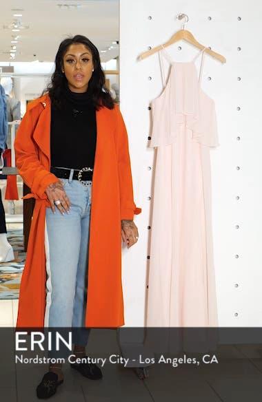 Flutter Halter Chiffon A-Line Gown, sales video thumbnail