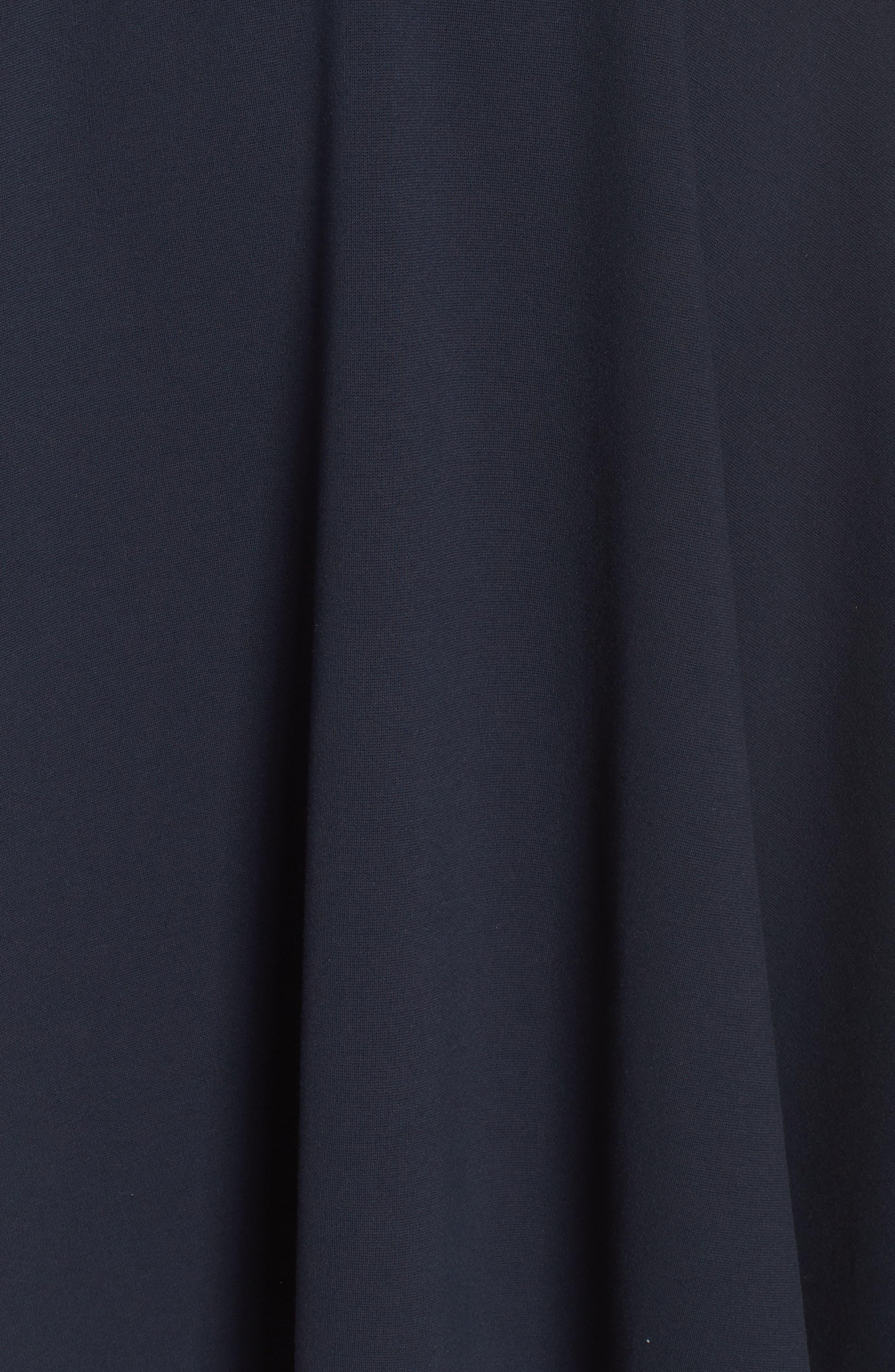 HARPER ROSE, Pleated Waist Fit & Flare Dress, Alternate thumbnail 7, color, 410