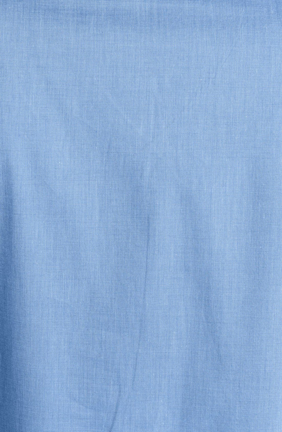 MAJESTIC INTERNATIONAL, Cotton Nightshirt, Alternate thumbnail 3, color, BLUE