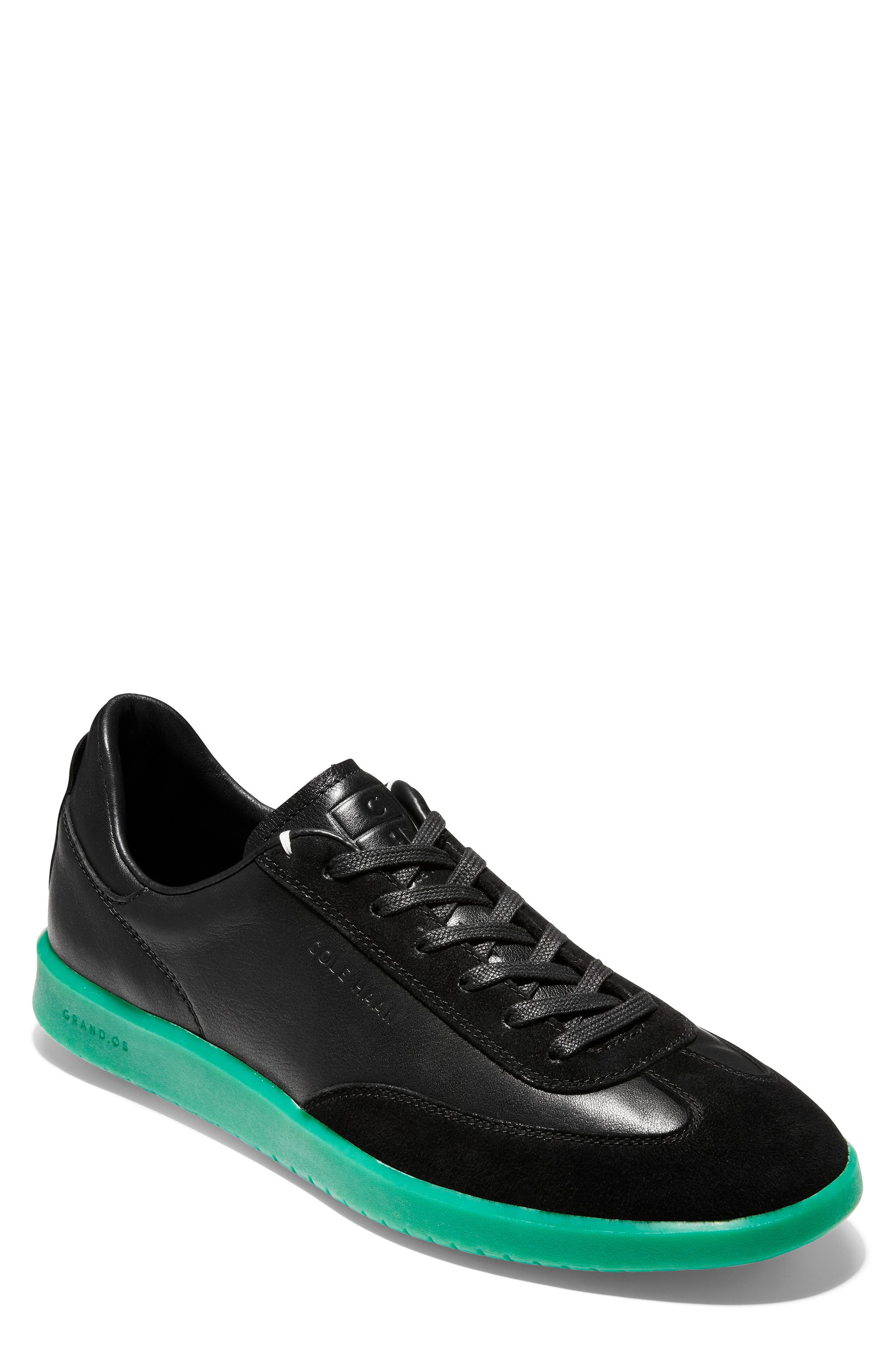 COLE HAAN GrandPro Turf Sneaker, Main, color, BLACK/ GREEN TRANSLUCENT