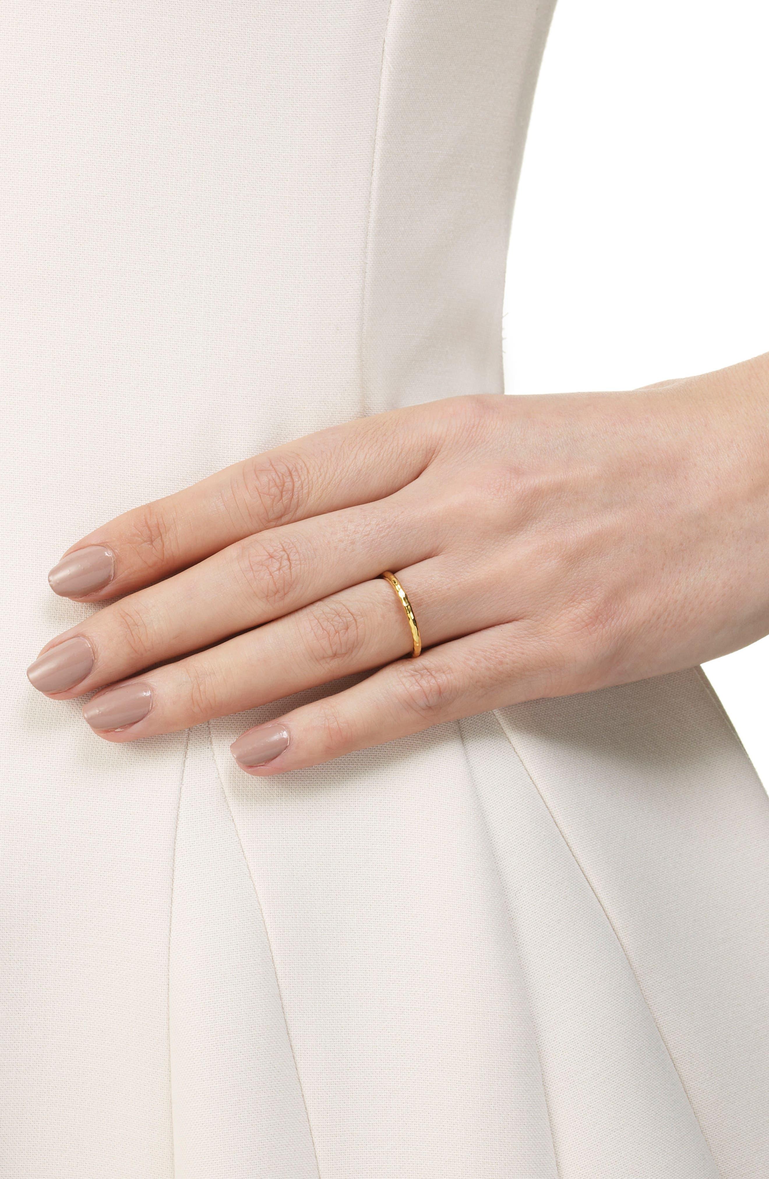 MONICA VINADER, Siren Hammered Ring, Alternate thumbnail 4, color, GOLD
