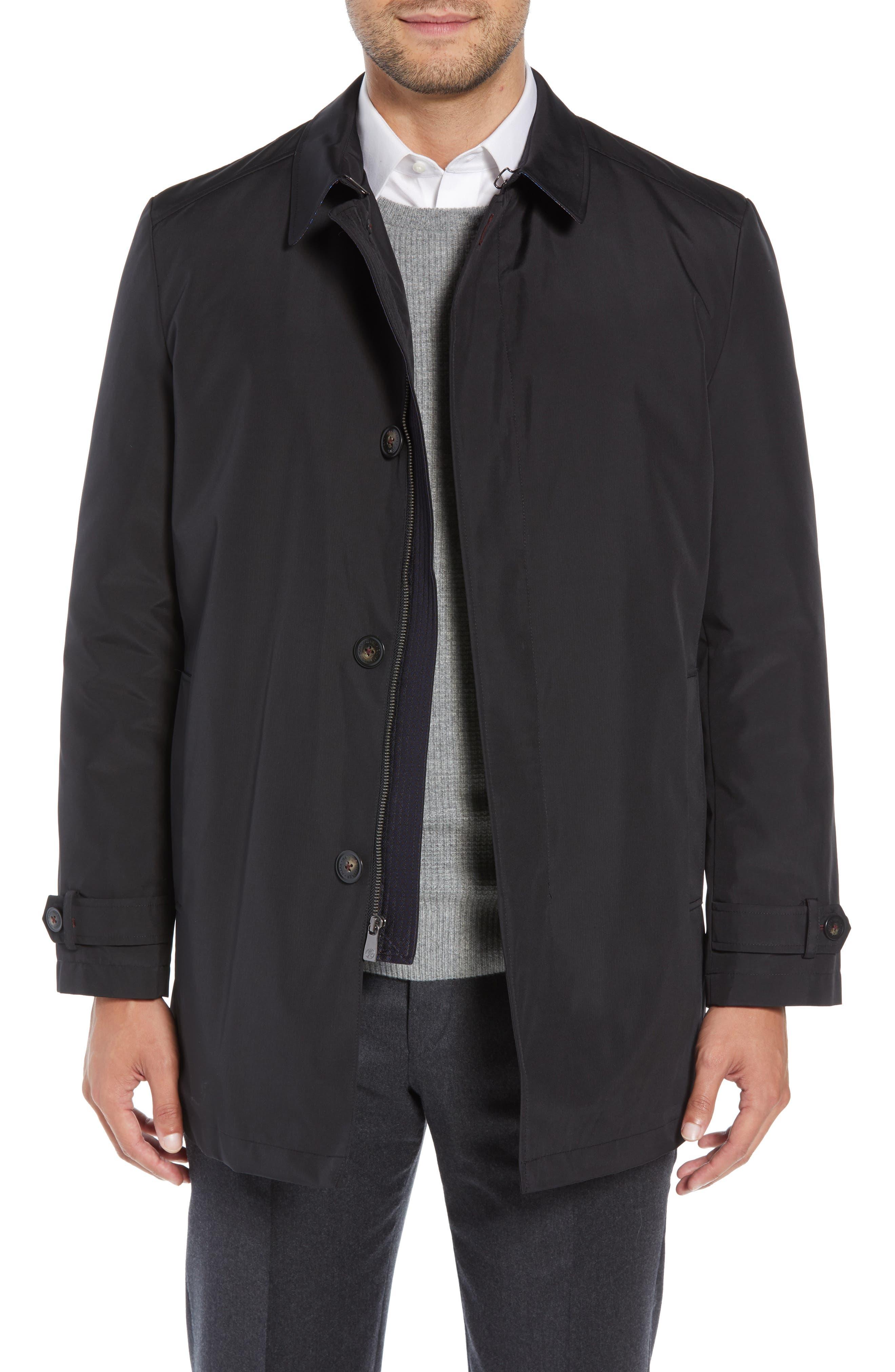 Hart Schaffner Marx Rain-Down Rain Coat, Black