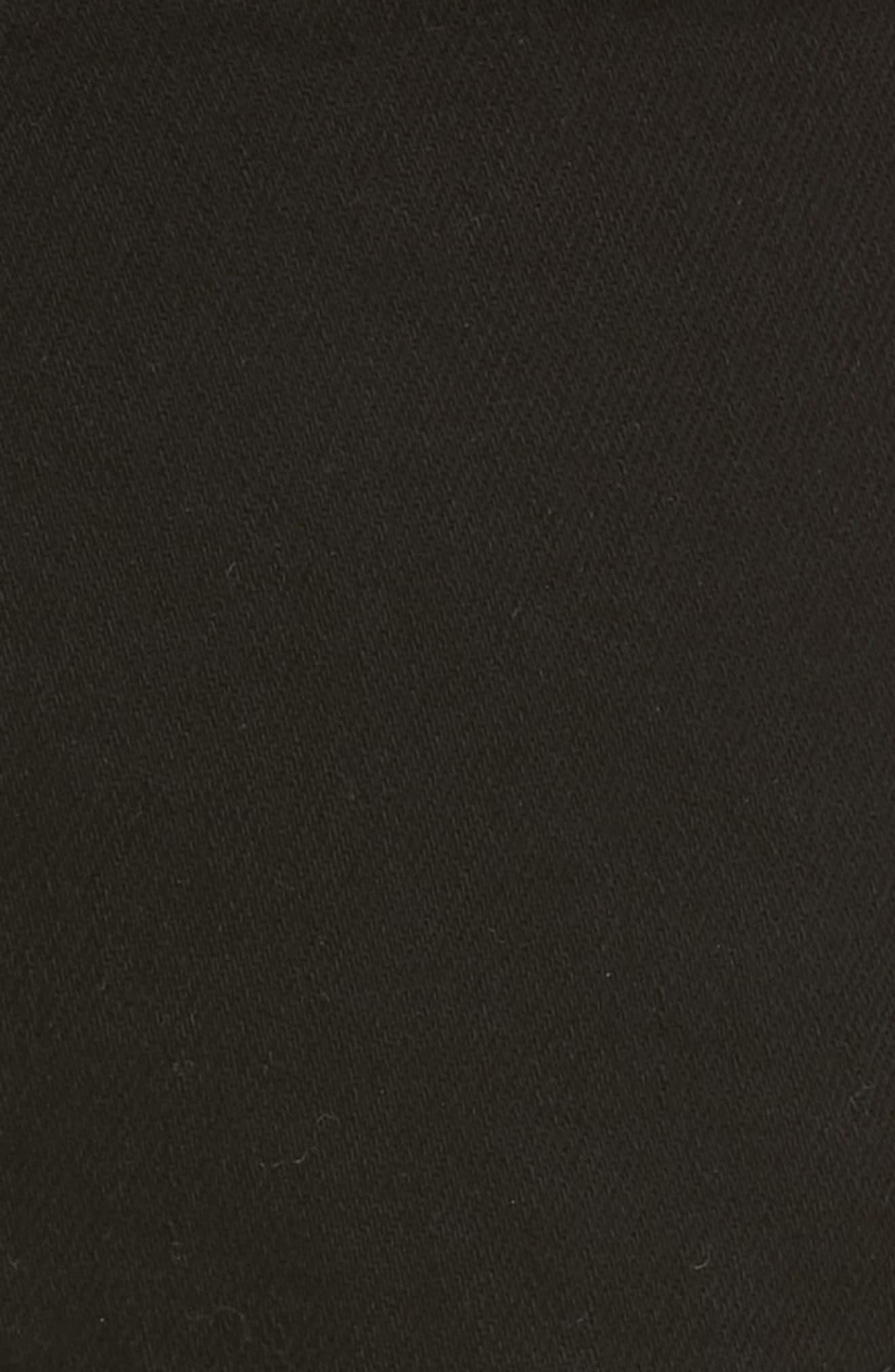 FRAME, Le Cutoff Cuffed Jean Shorts, Alternate thumbnail 6, color, NOIR