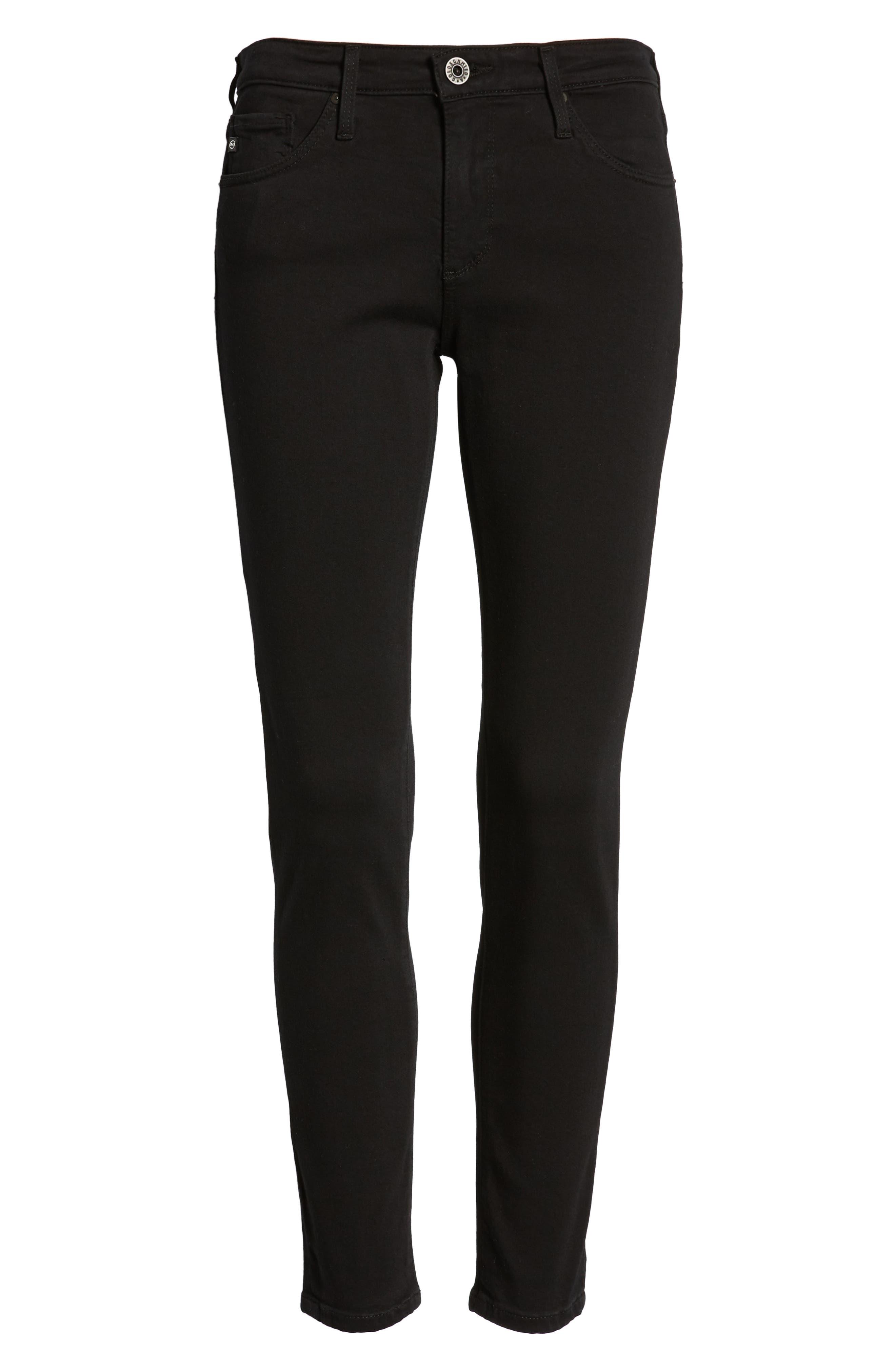 AG, 'The Legging' Ankle Super Skinny Jeans, Alternate thumbnail 2, color, SUPER BLACK