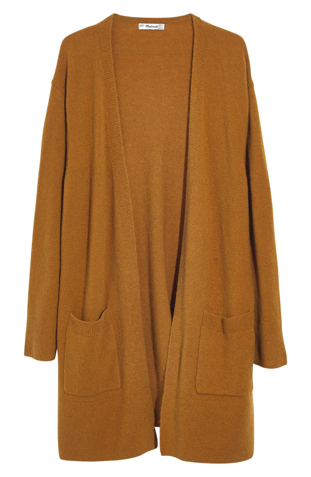 MADEWELL, Kent Cardigan Sweater, Alternate thumbnail 5, color, 801