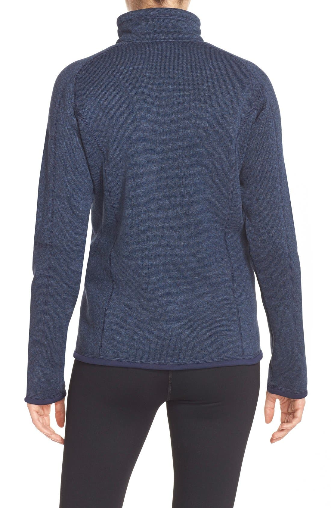 PATAGONIA, Better Sweater Zip Pullover, Alternate thumbnail 4, color, CLASSIC NAVY