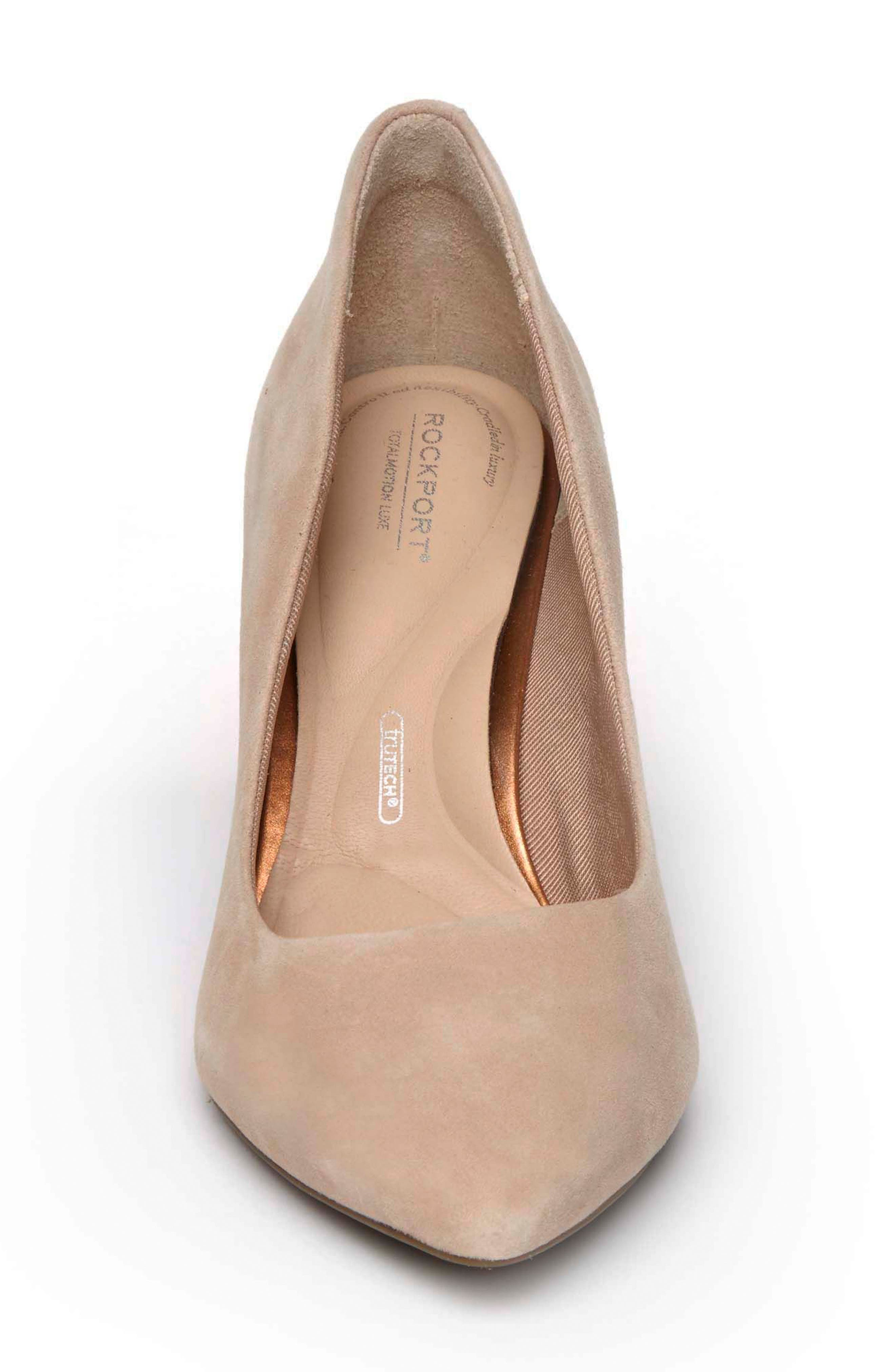 ROCKPORT, Total Motion Luxe Valerie Pump, Alternate thumbnail 4, color, BLUSH SUEDE