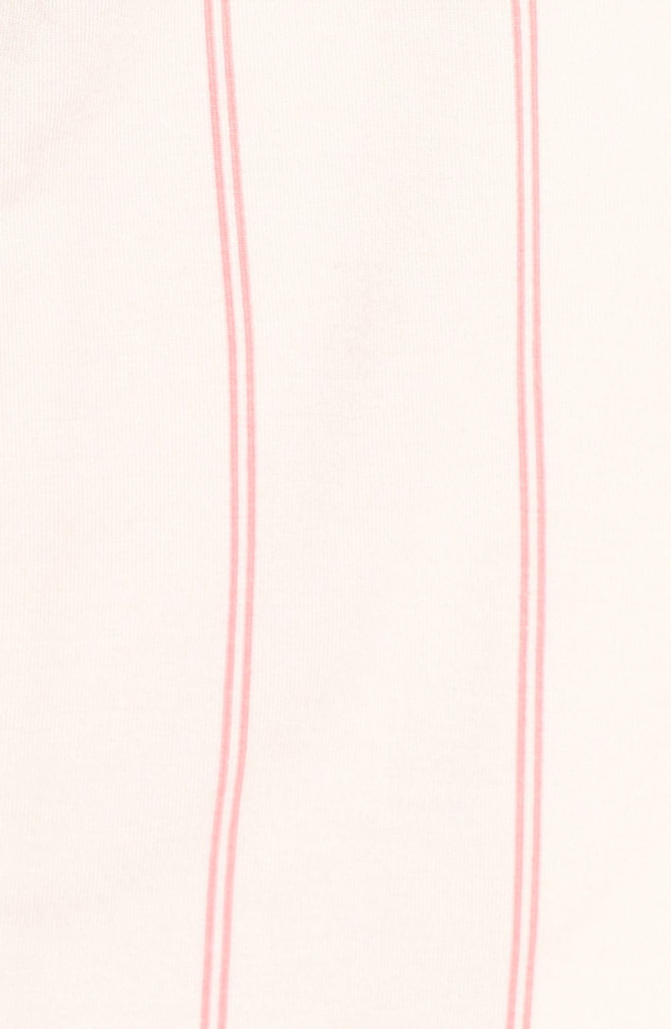 NORDSTROM LINGERIE, Moonlight Pajamas, Alternate thumbnail 5, color, PINK CRYSTAL MICRO STRIPE