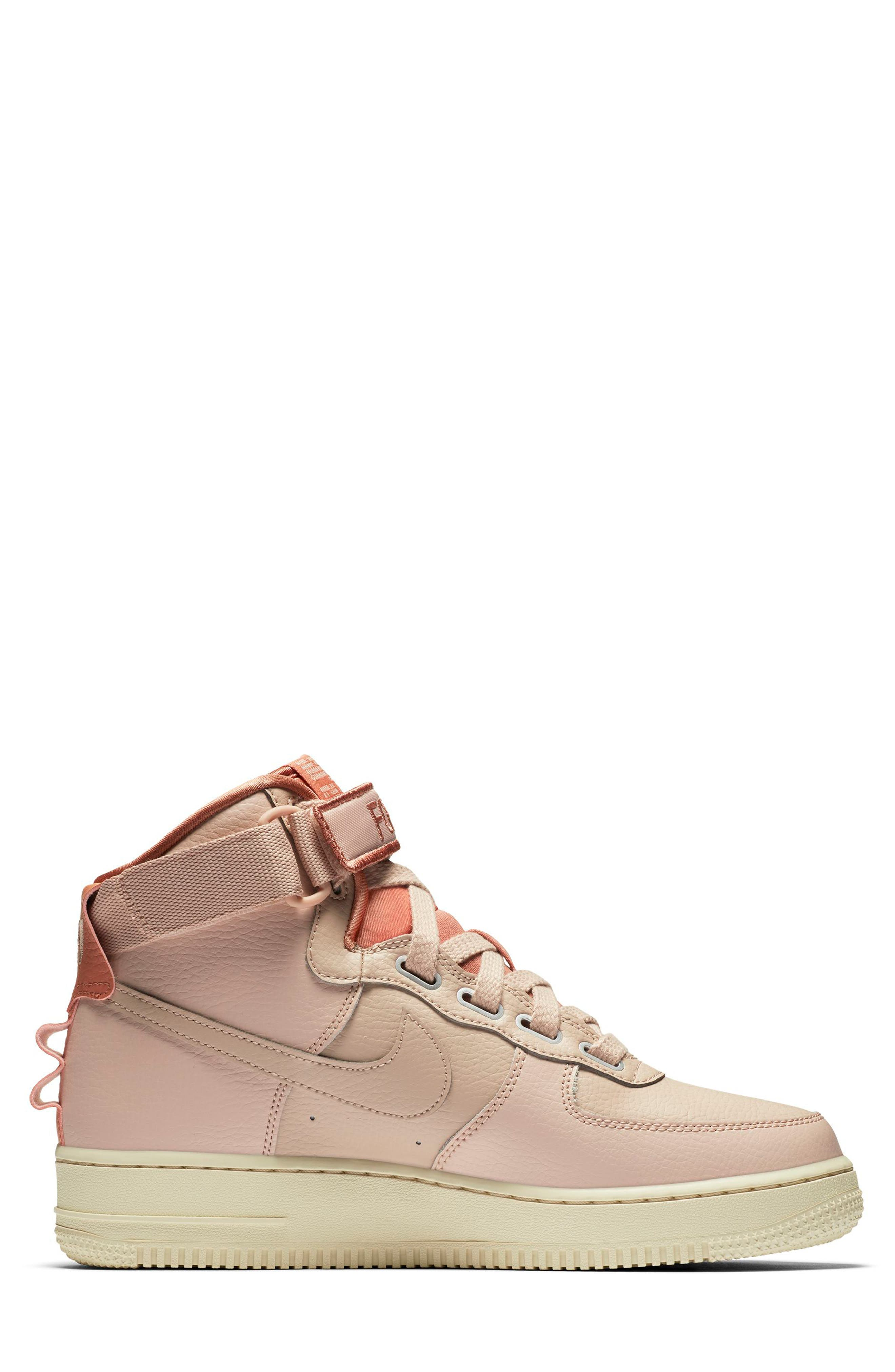 NIKE, Air Force 1 High Utility Sneaker, Alternate thumbnail 6, color, 200