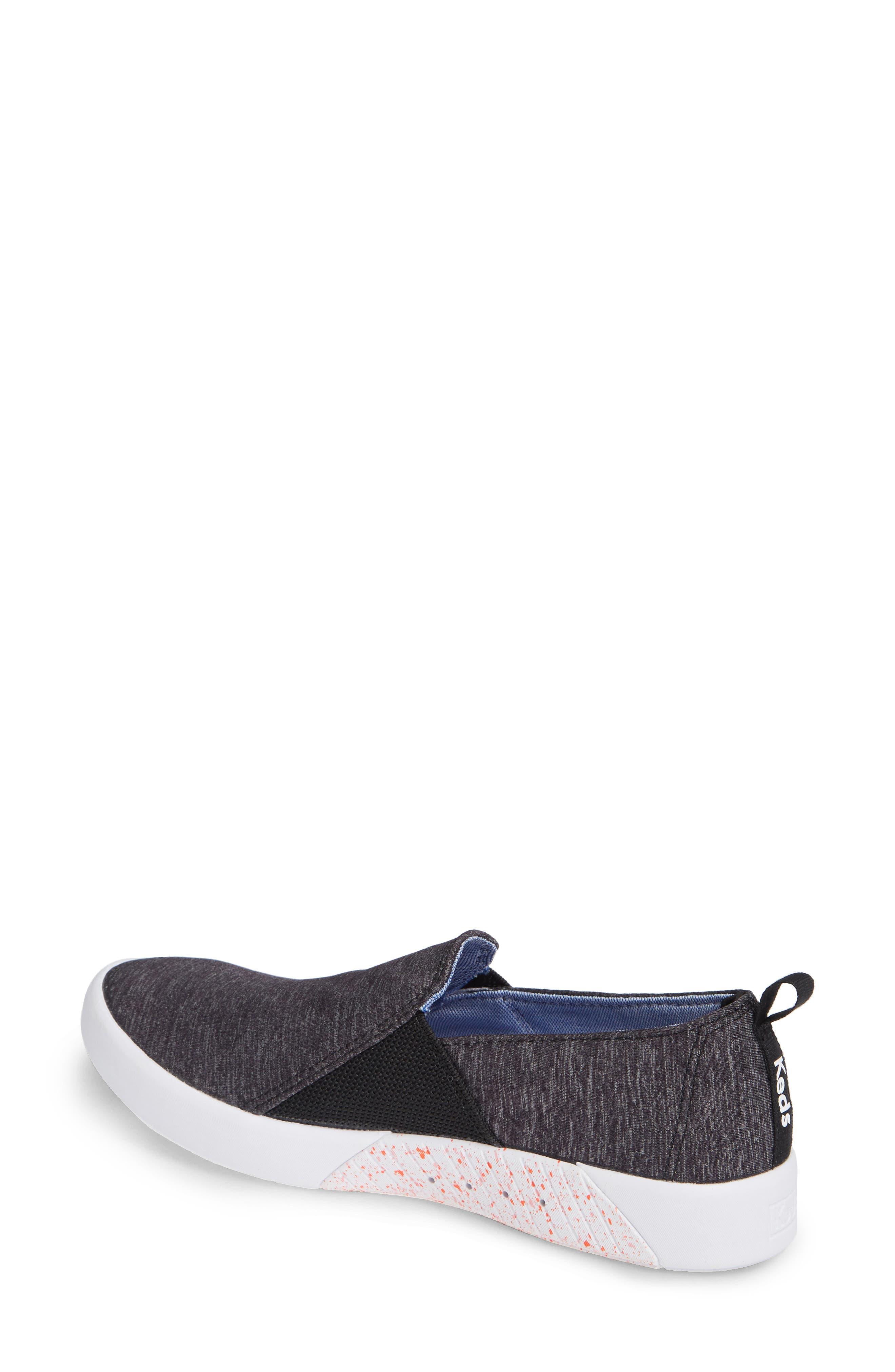 KEDS<SUP>®</SUP>, Studio Liv Active Knit Sneaker, Alternate thumbnail 2, color, BLACK