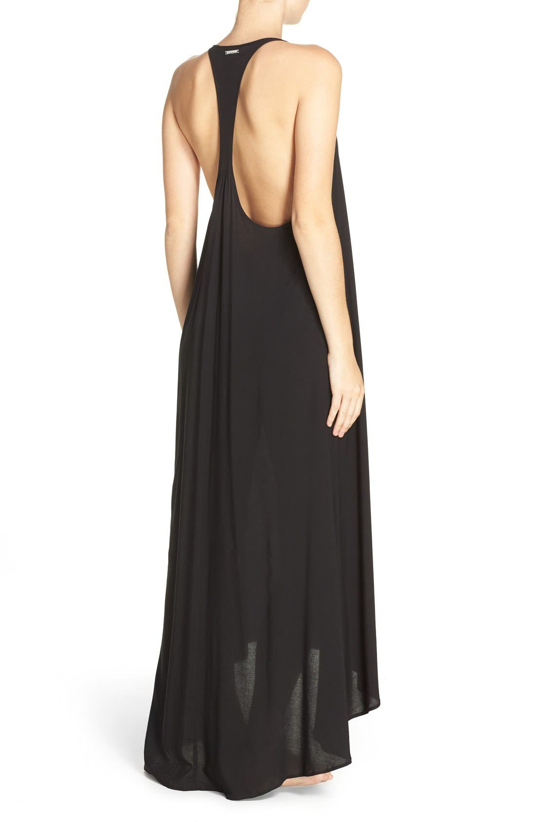 VINCE CAMUTO, Cover-Up Maxi Dress, Alternate thumbnail 5, color, 001