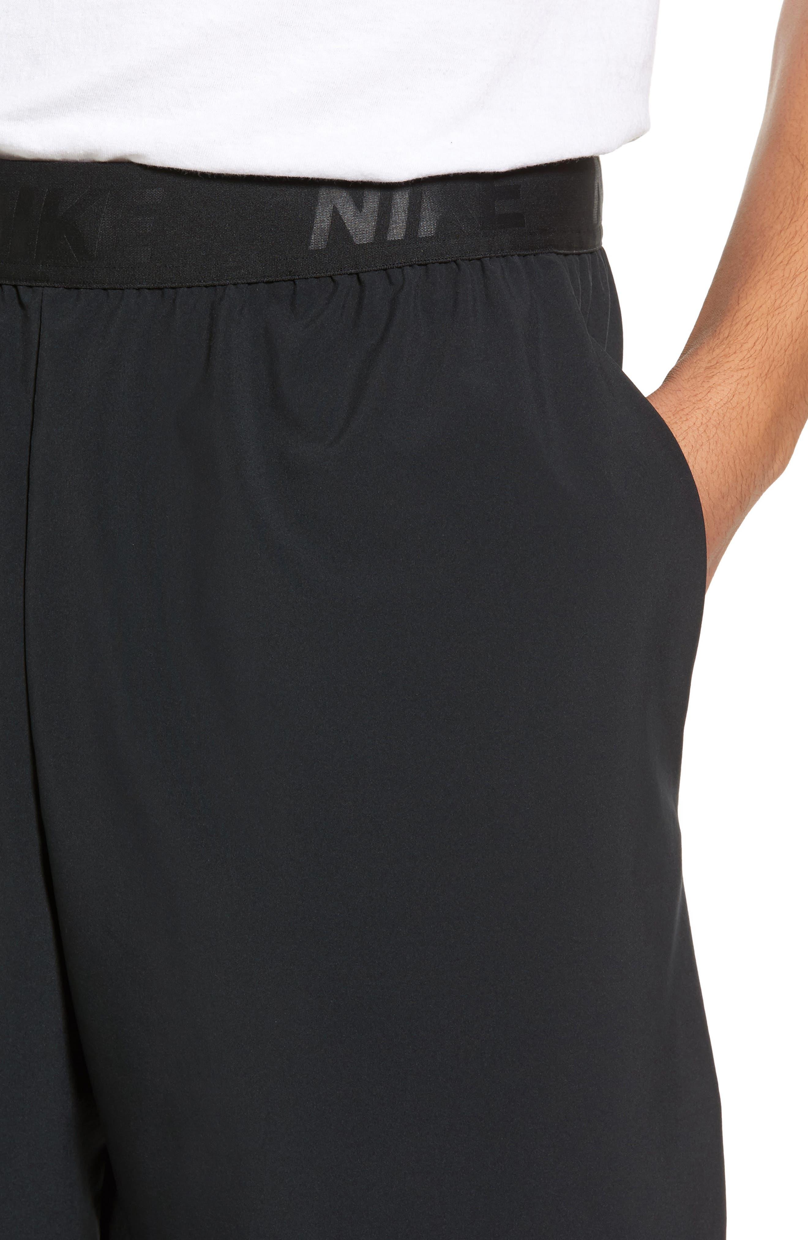 NIKE, Flex Vent Max Shorts, Alternate thumbnail 5, color, BLACK/ METALLIC HEMATITE