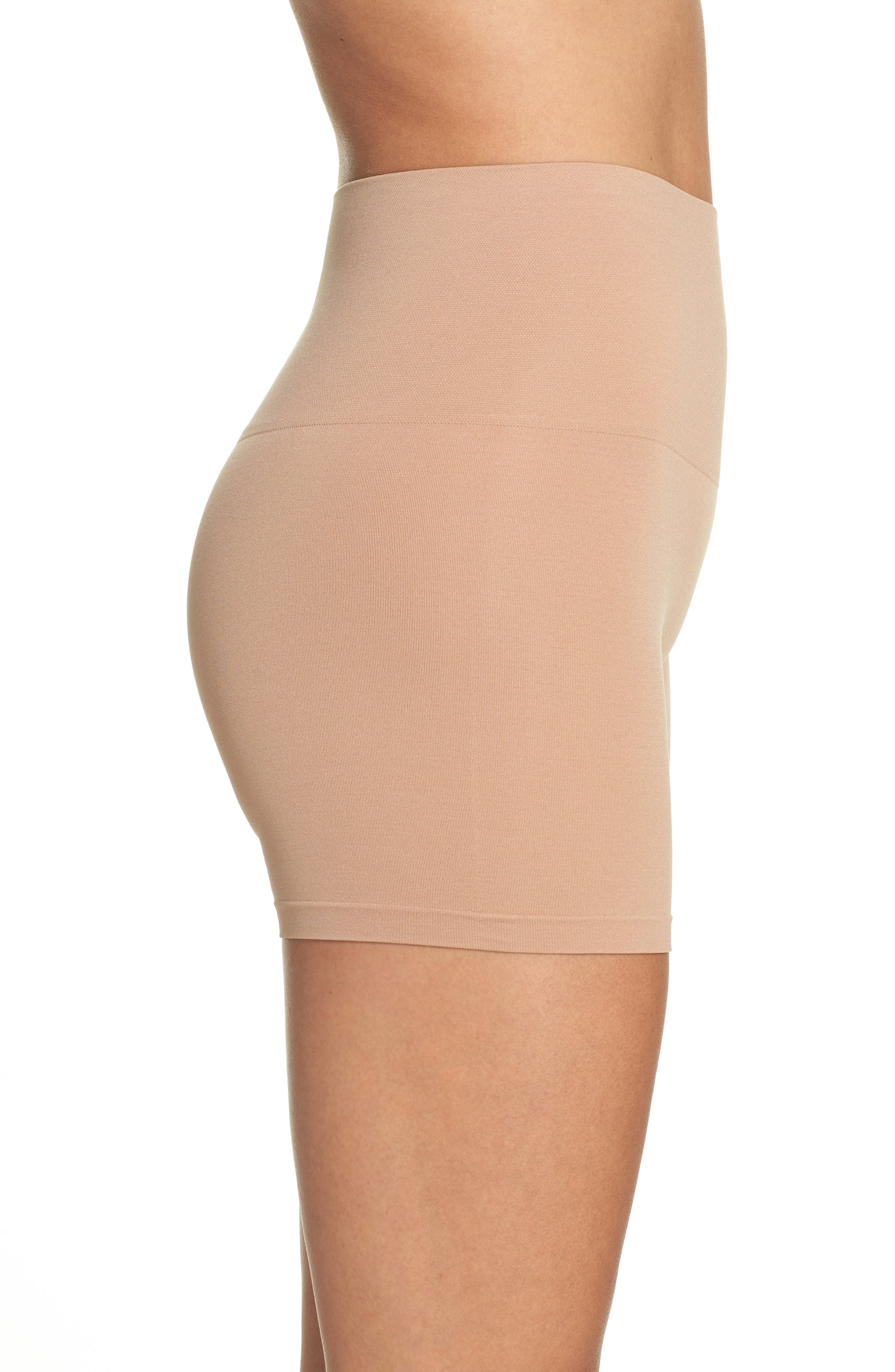 YUMMIE, Ultralight Seamless Shaping Shorts, Alternate thumbnail 3, color, ALMOND