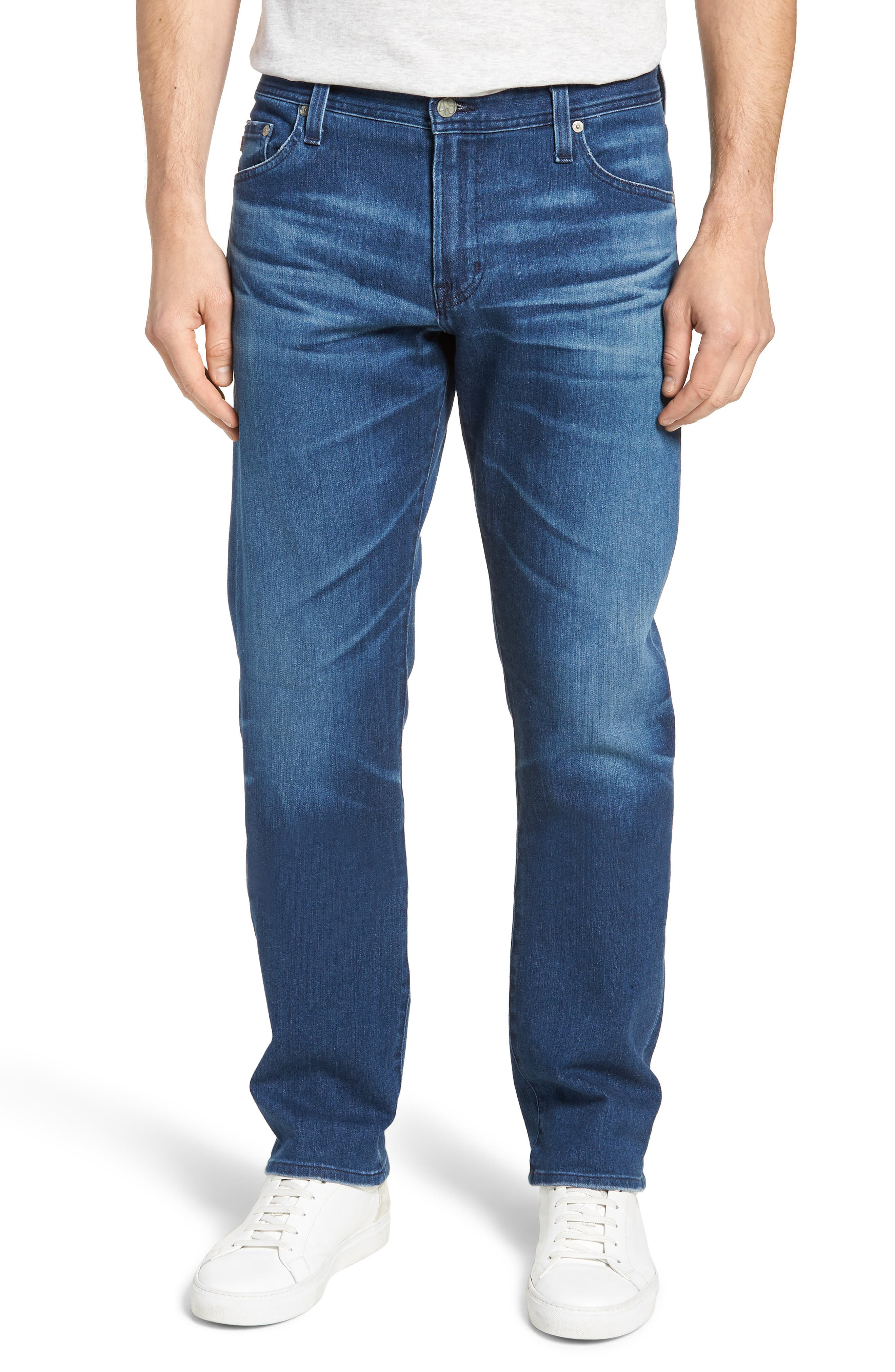 AG, Graduate Slim Straight Fit Jeans, Main thumbnail 1, color, 437